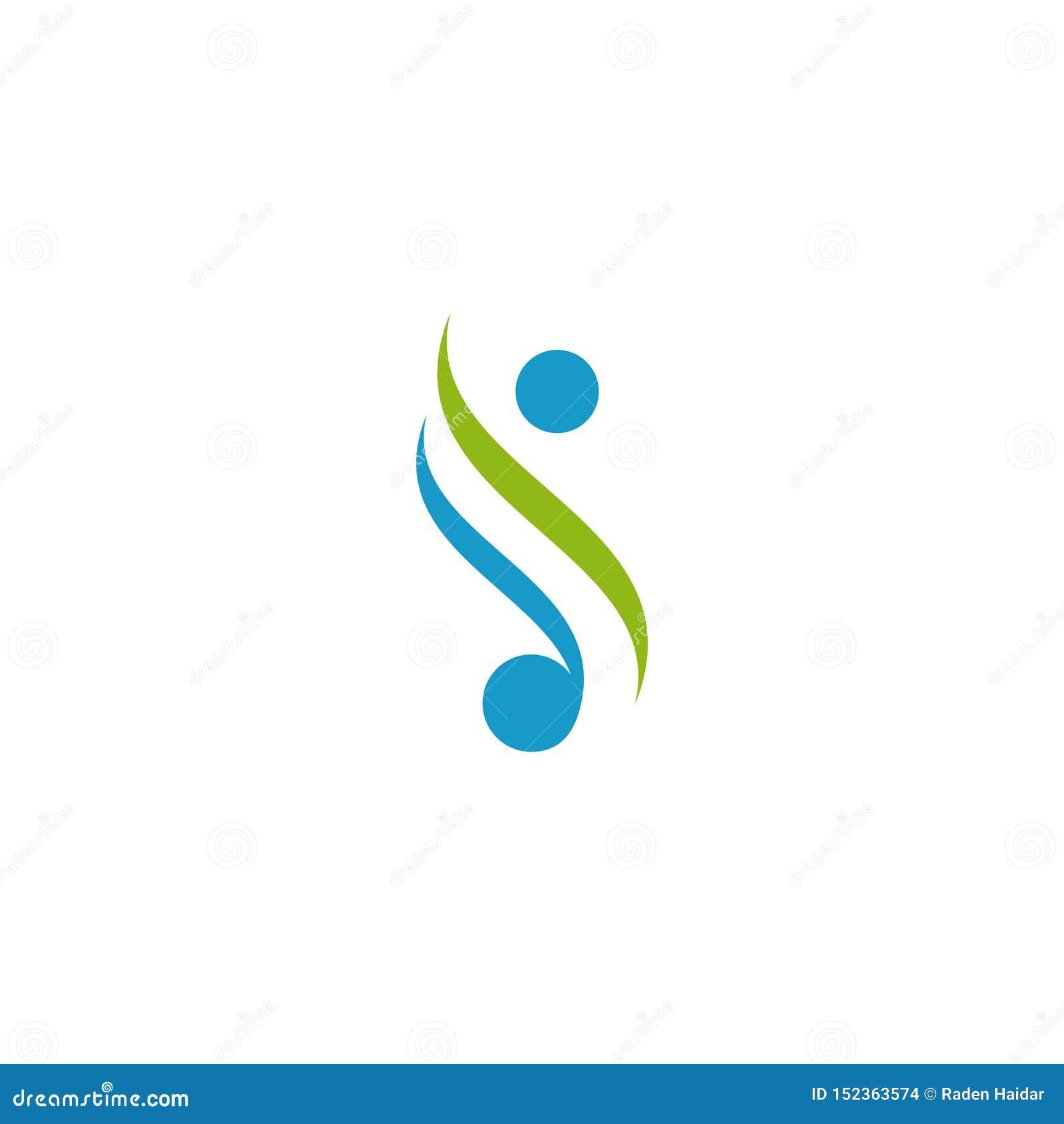 Menselijk embleemontwerp Eenvoudige minimalistische stijl