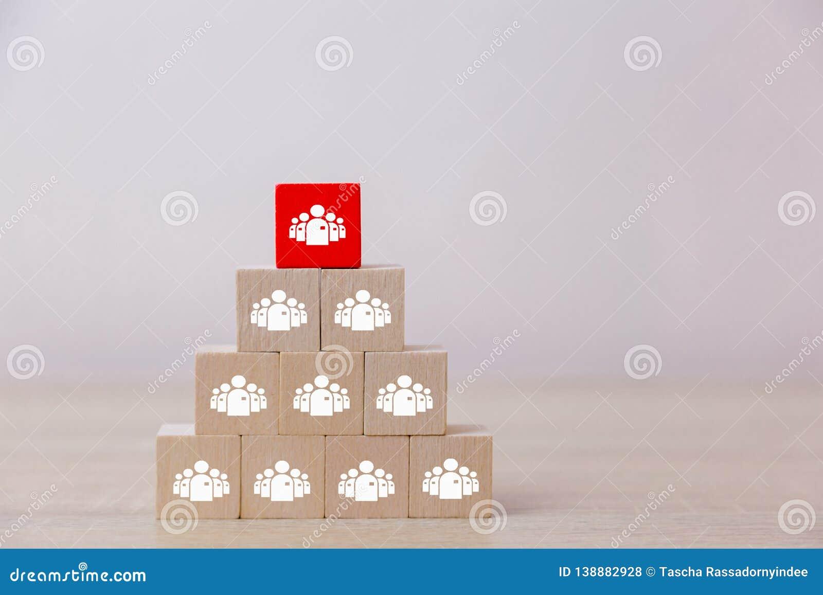 Menselijk van de middelbeheer en rekrutering bedrijfsconcept, Bedrijfsstrategiesucces in groepswerk