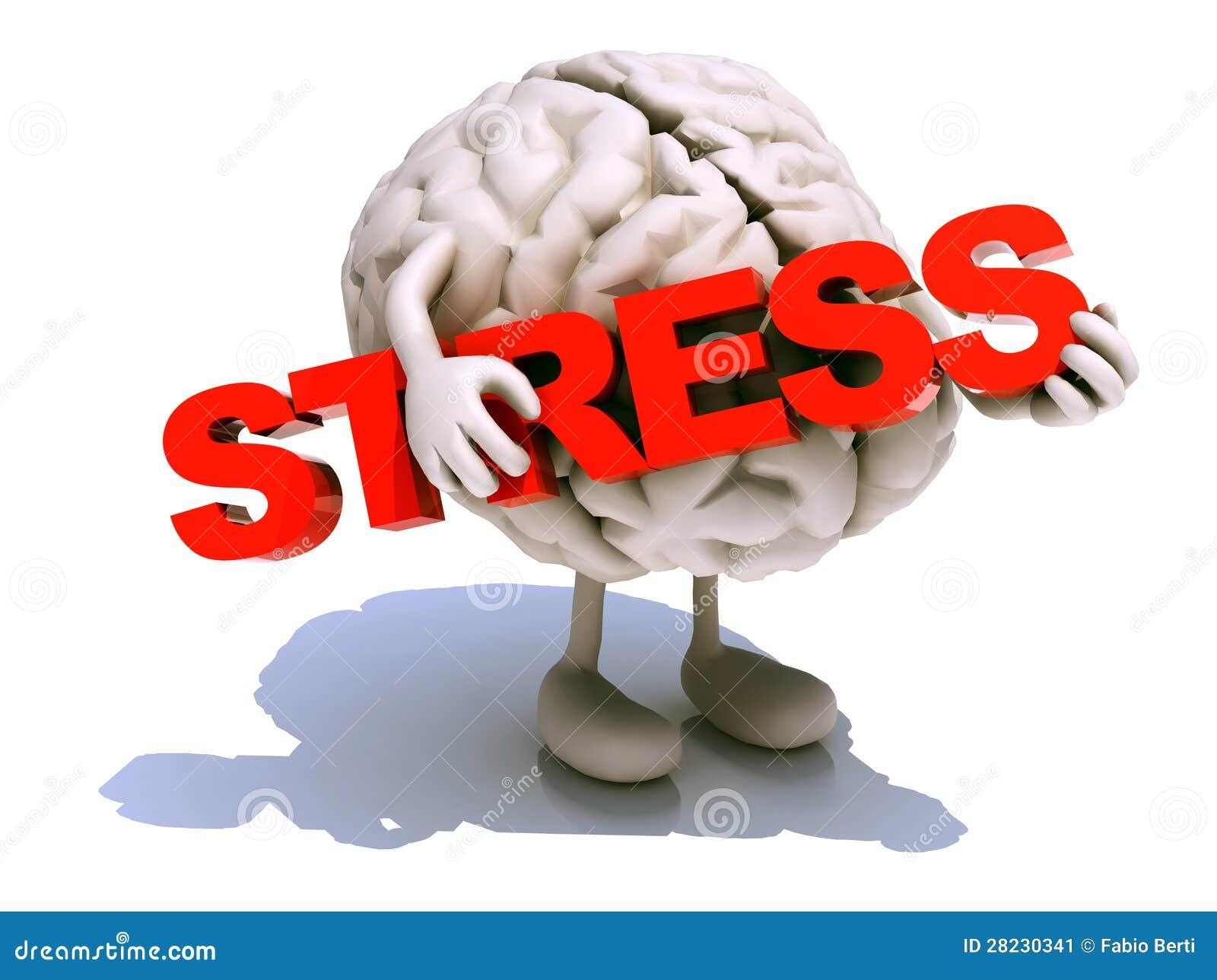 Menselijke hersenen die woordspanning omhelzen