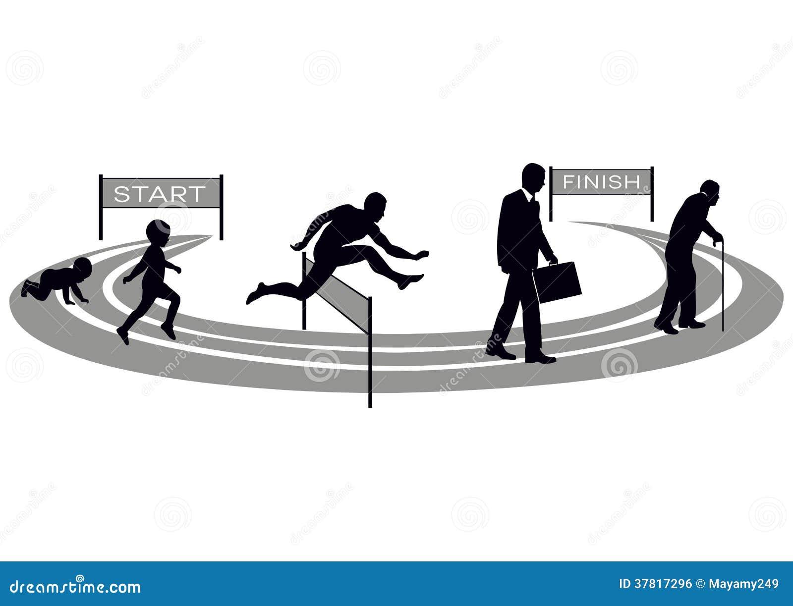 Menselijke ontwikkeling vector illustratie afbeelding bestaande uit racetrack 37817296 - Ontwikkeling m ...