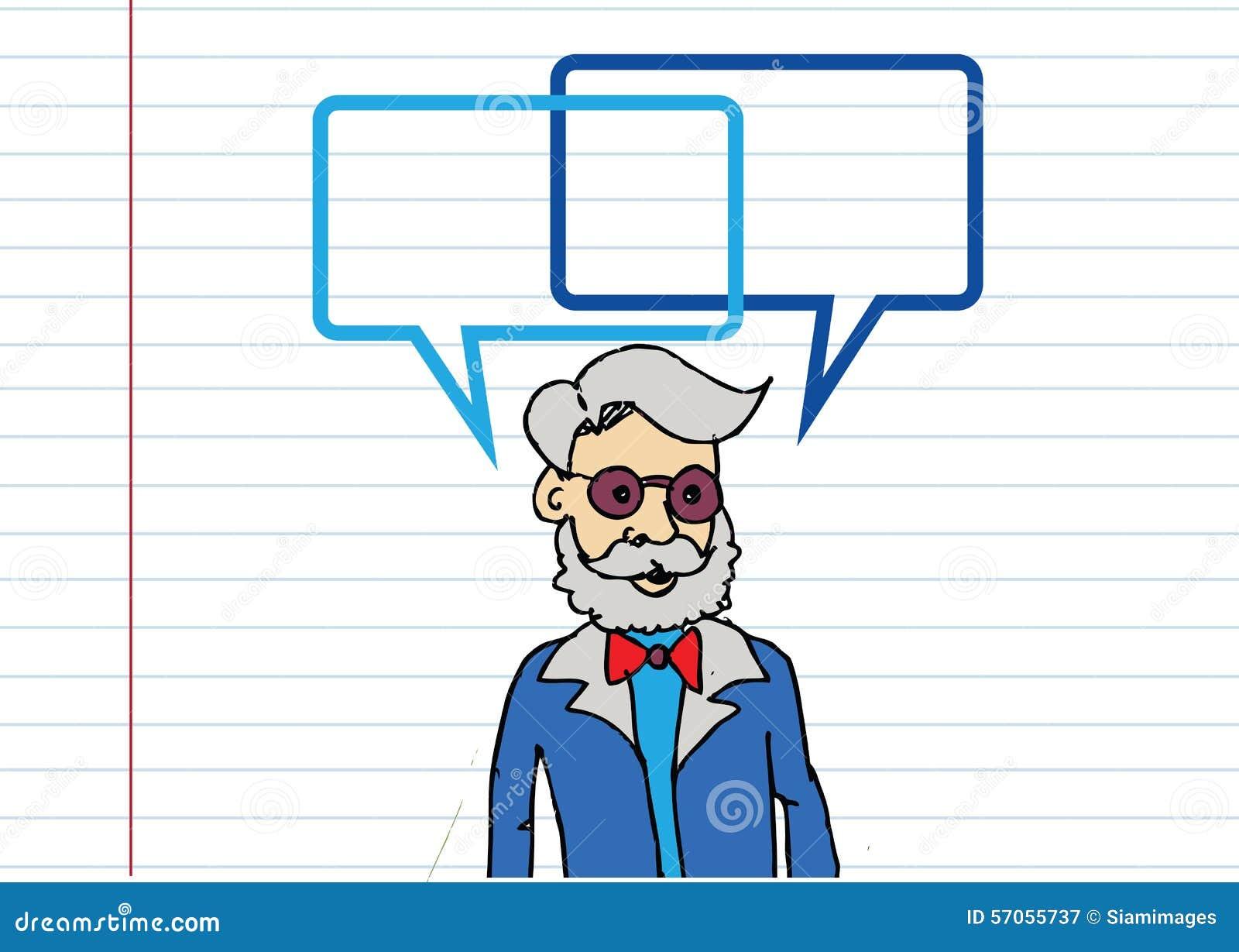 Mensen denken en volkeren die met de bellen van de dialoogtoespraak spreken