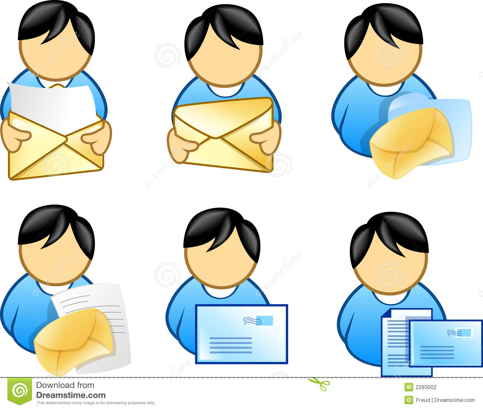Mensen die e-mailpictogram houden