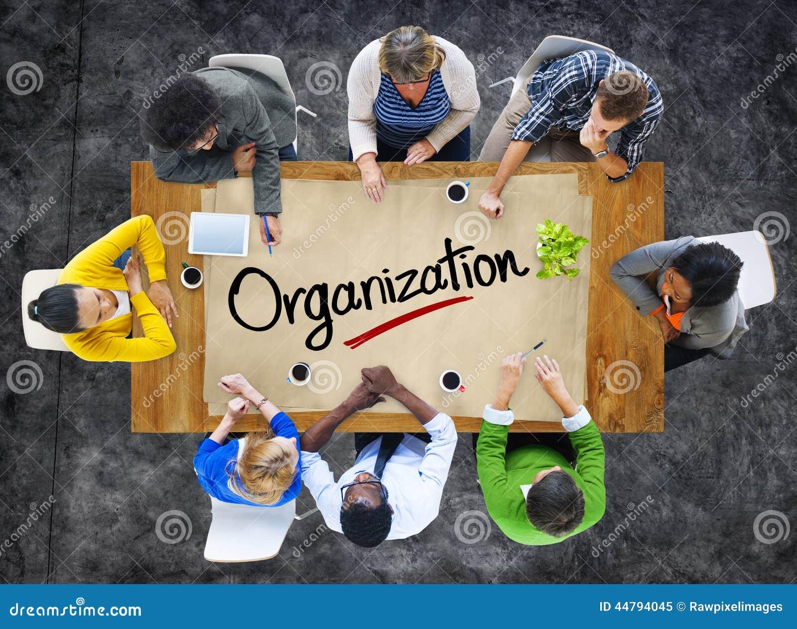 Mensen in een Vergadering en Organisatieconcepten