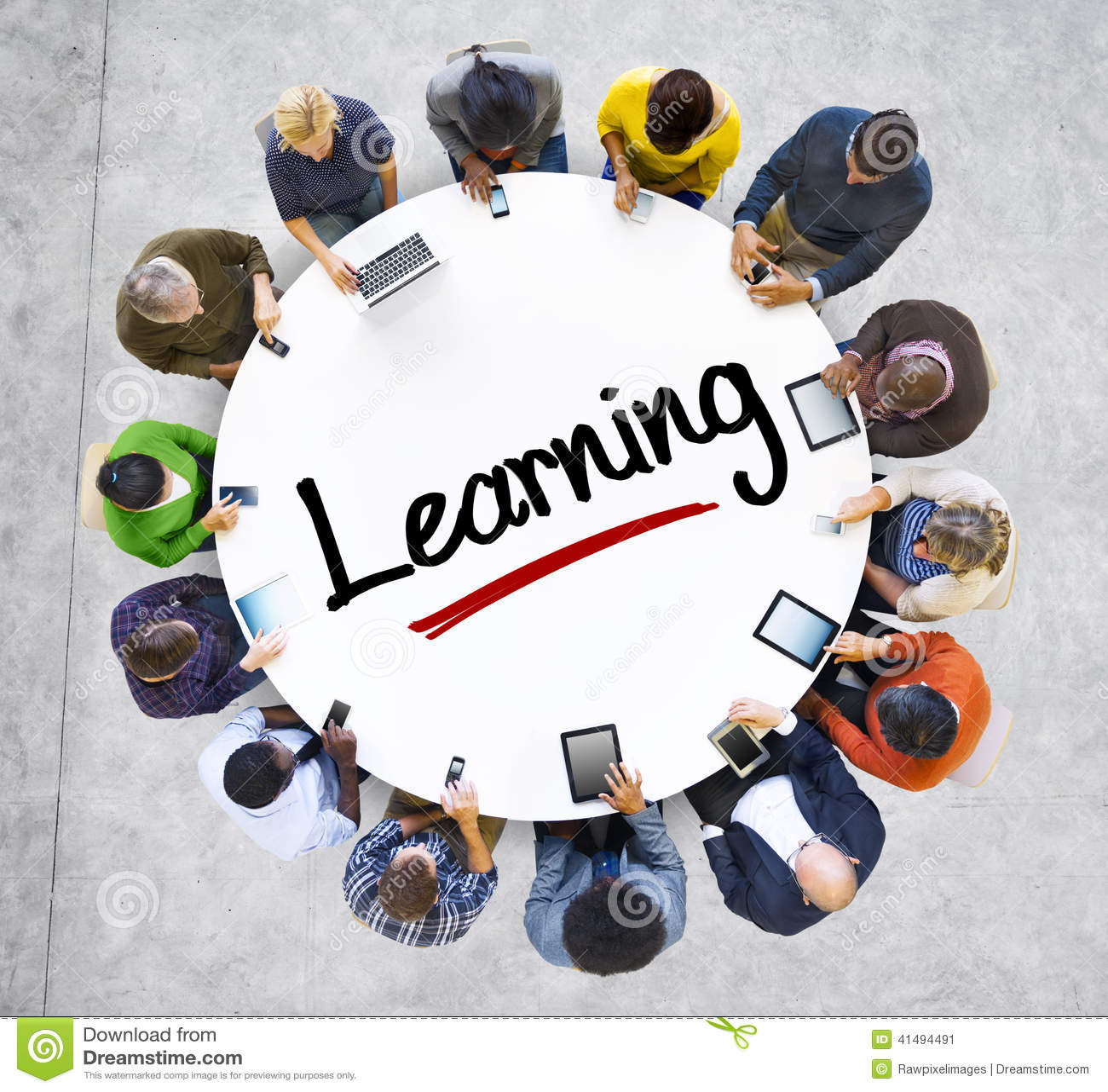 Mensen en het Leren Concept met Geweven Effect