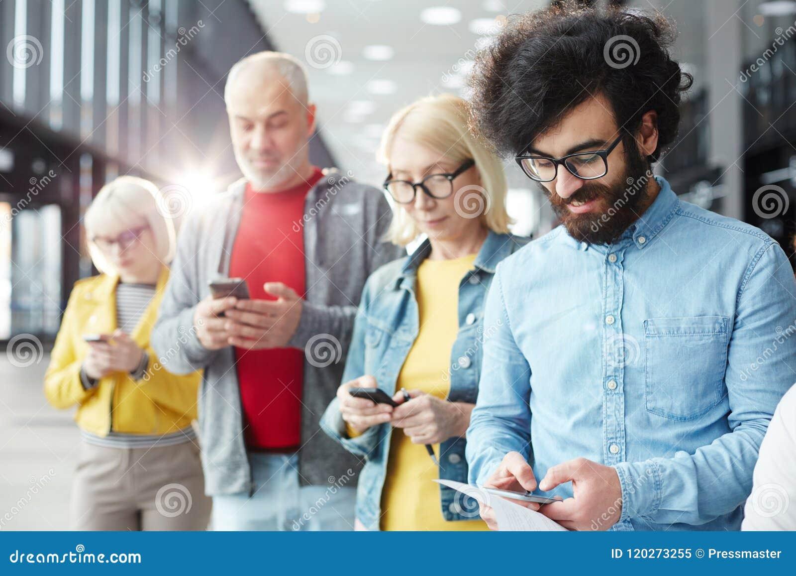 Mensen het texting