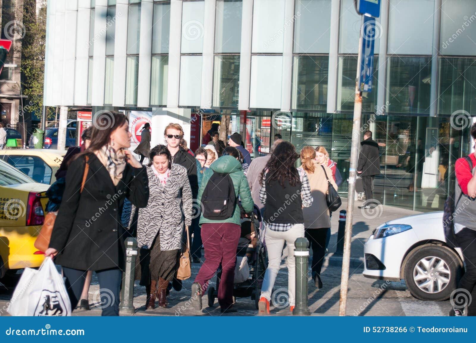 Mensen op de straat