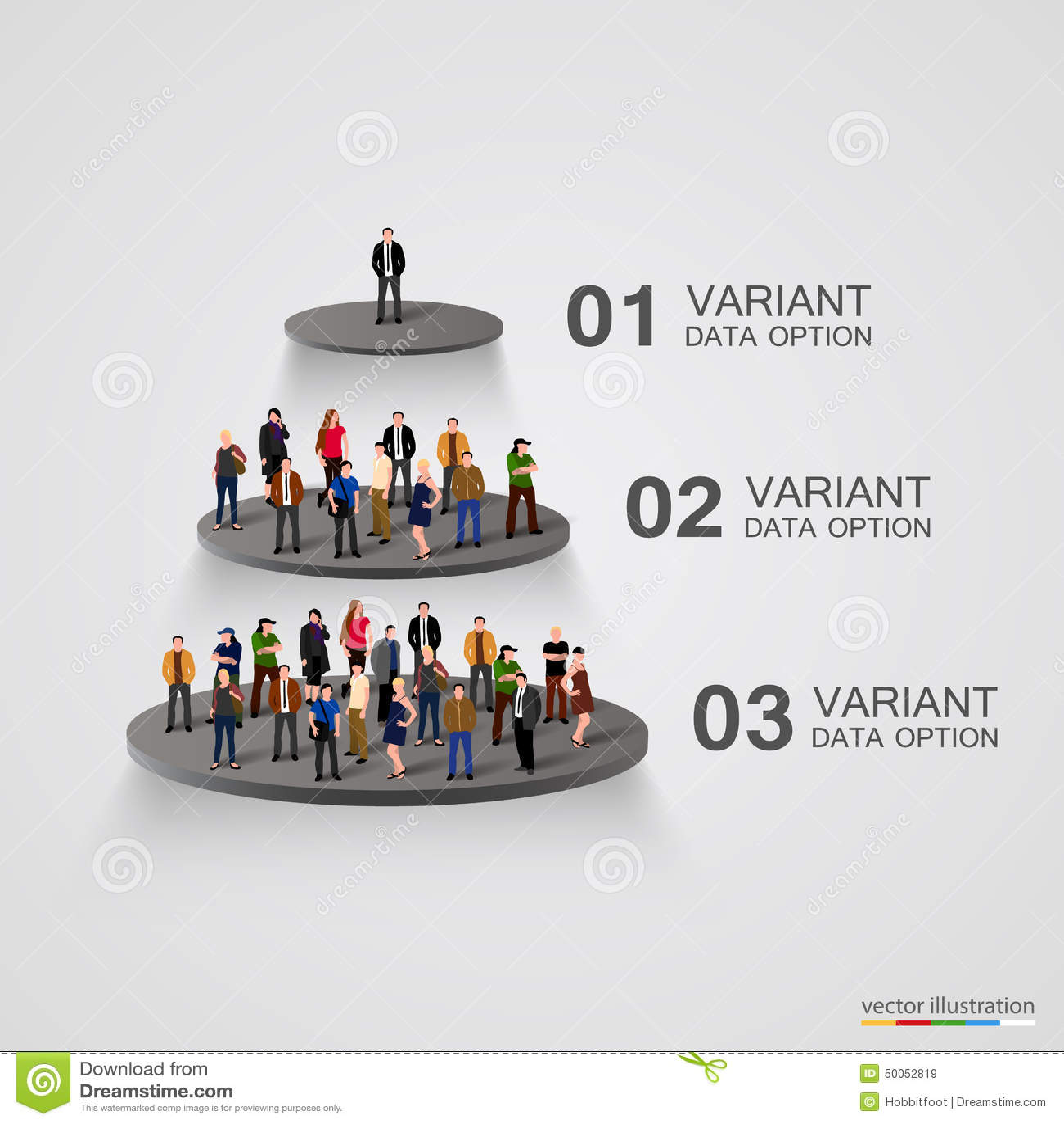 Mensen op een voetstuk in de hiërarchie