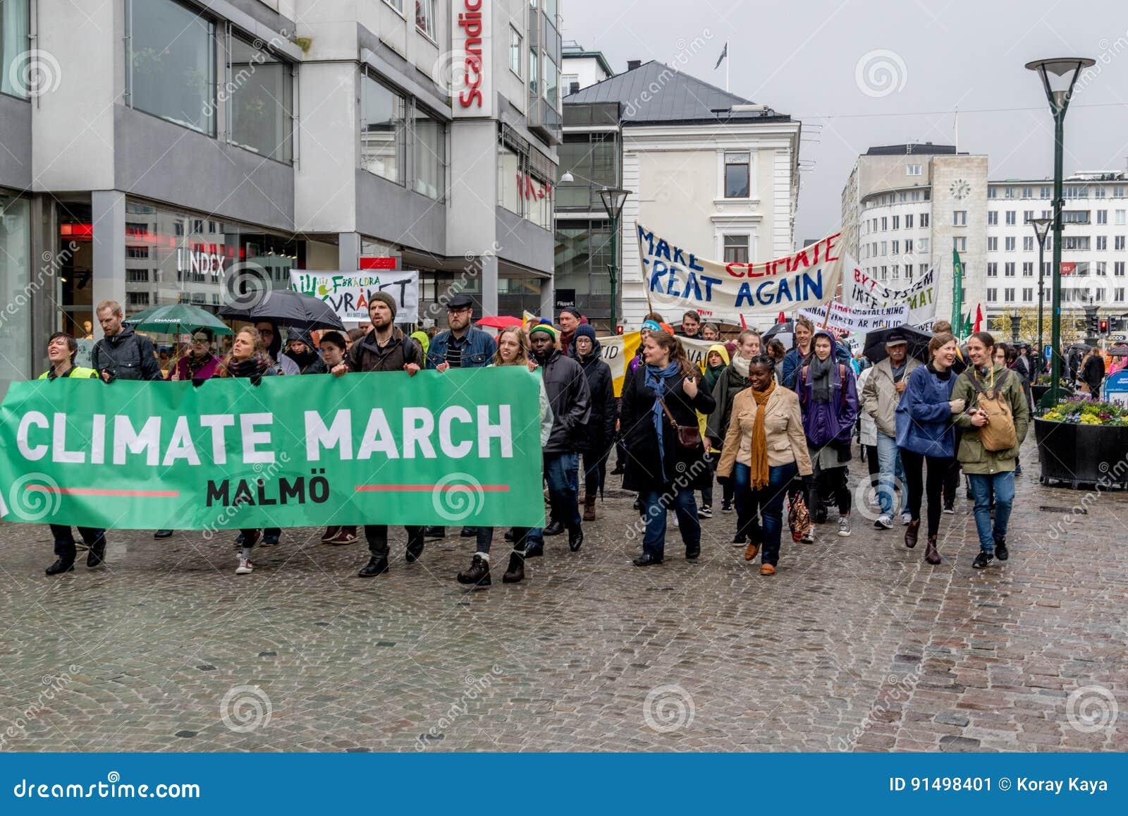 Mensen` s Klimaat Maart Malmö