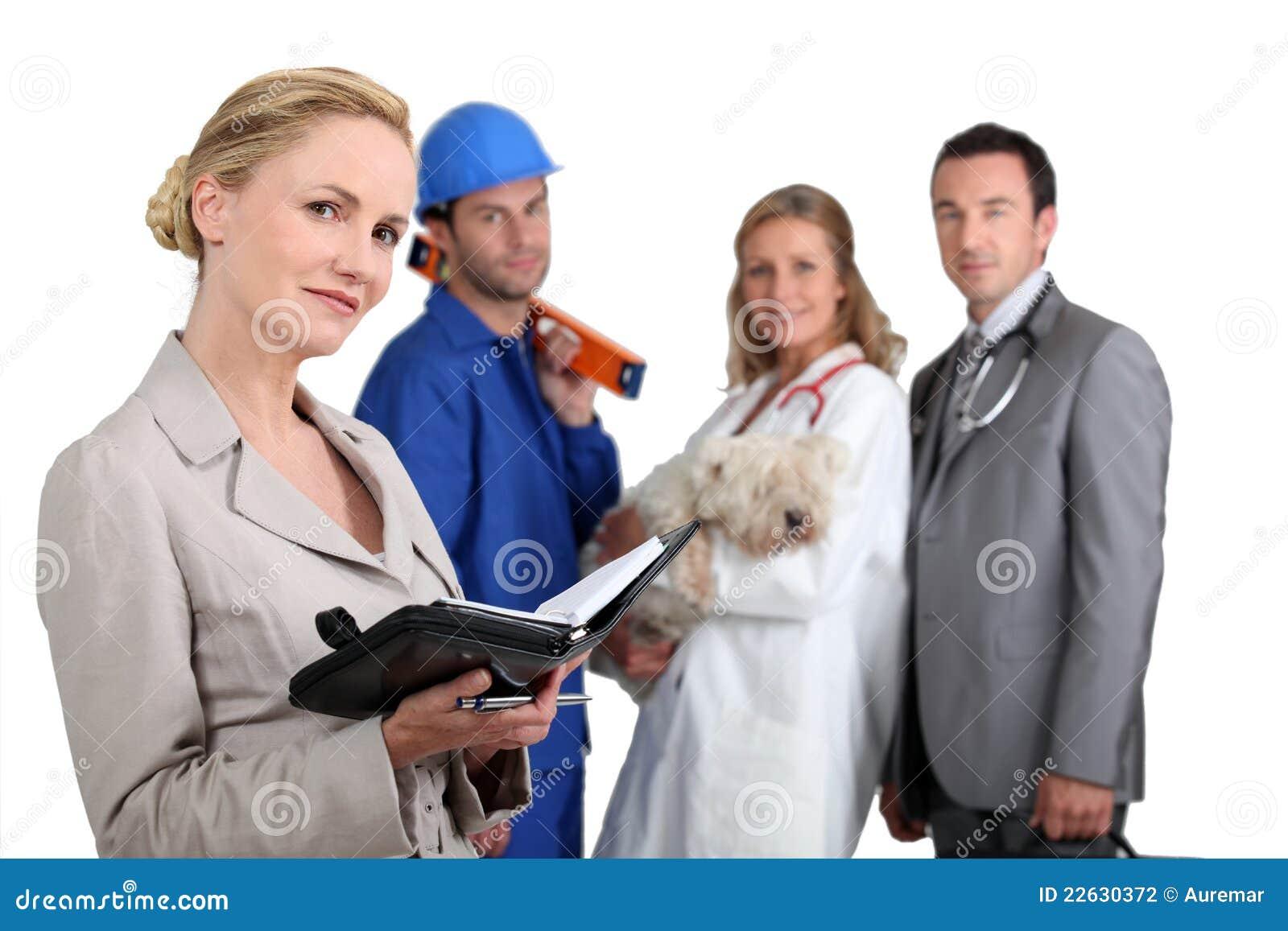 Mensen van verschillende werkgelegenheidsachtergronden