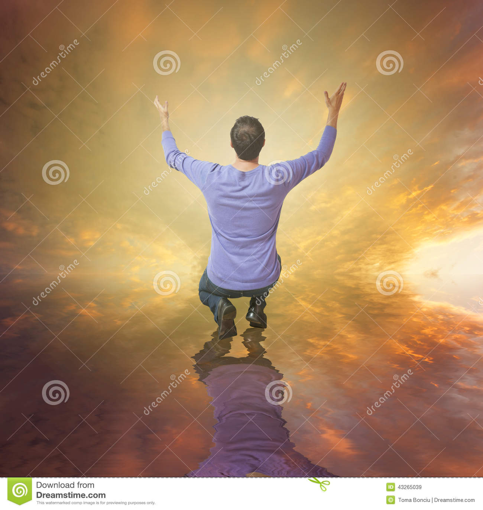 Mensen worshiping God