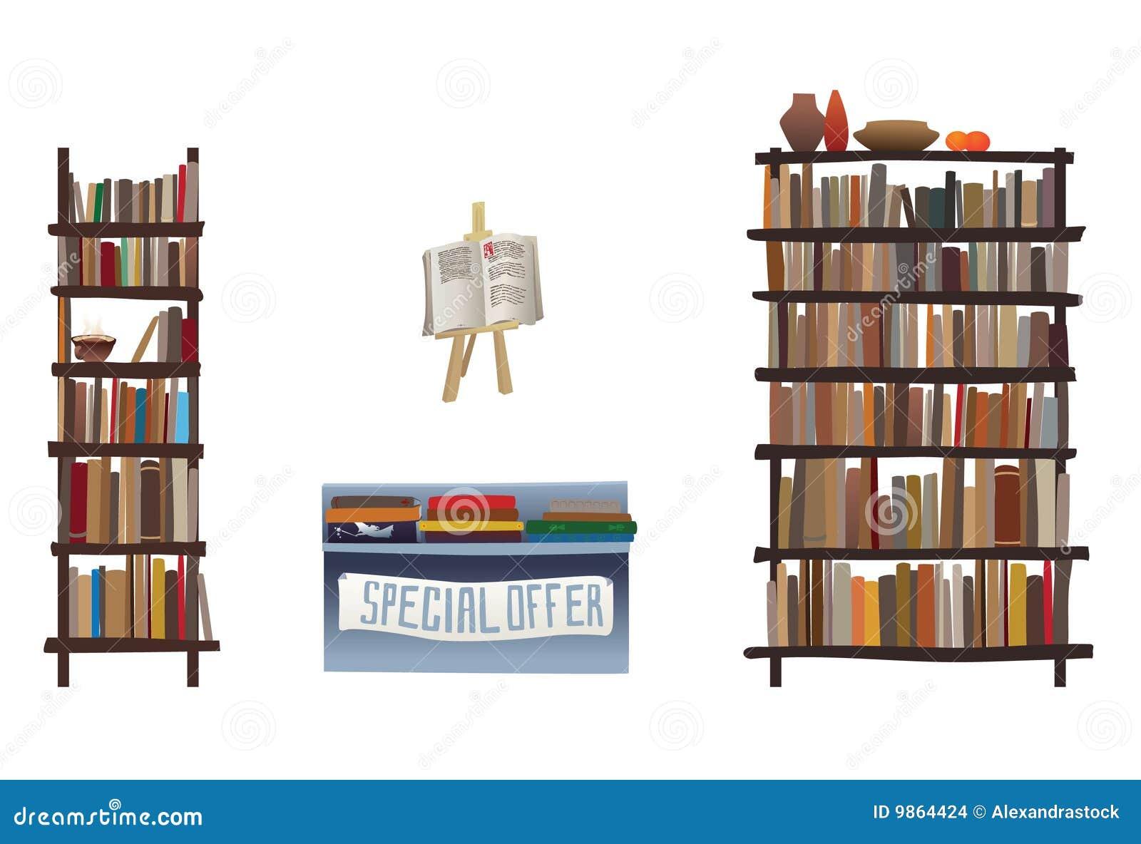 Mensole di libro ed attrezzature della libreria for Mensole libreria