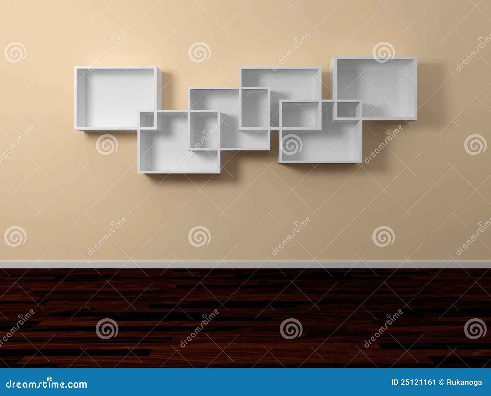 mensole moderne : Mensole Moderne Isolato Su Background3d Bianco Ha Reso L