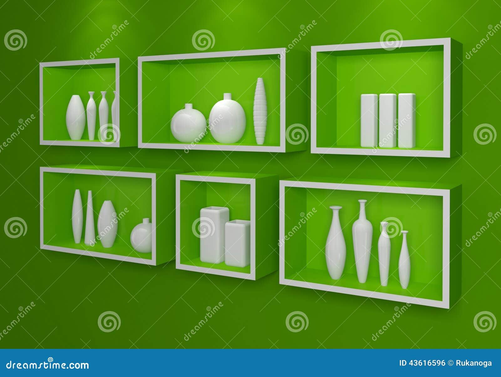 Mensole Moderne Illustrazione di Stock - Immagine: 43616596