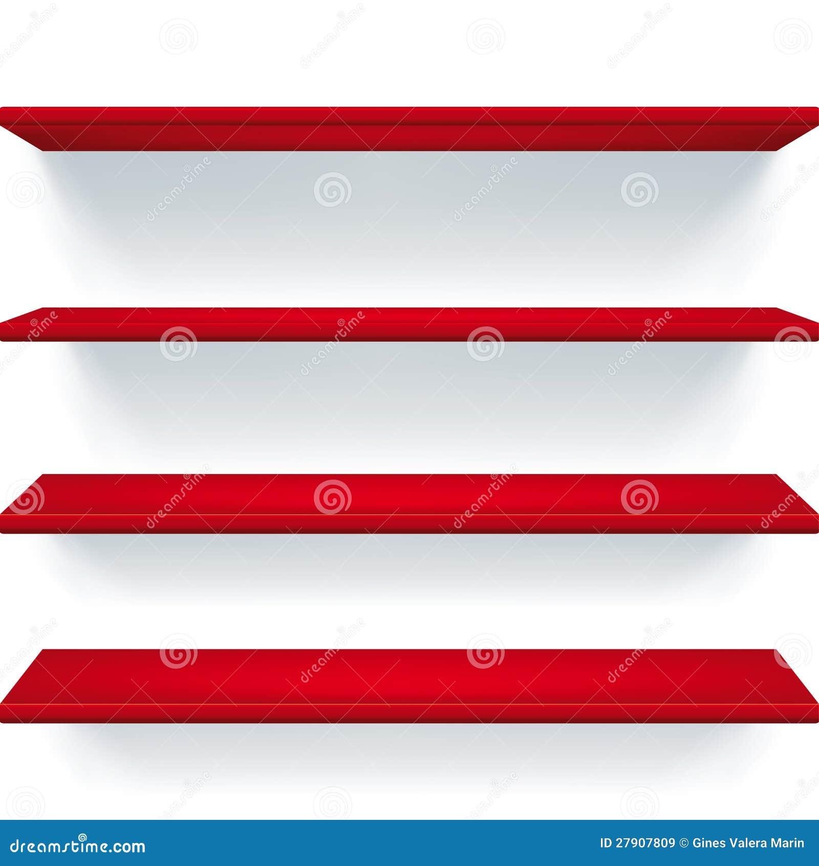 mensole rosse immagini stock libere da diritti immagine