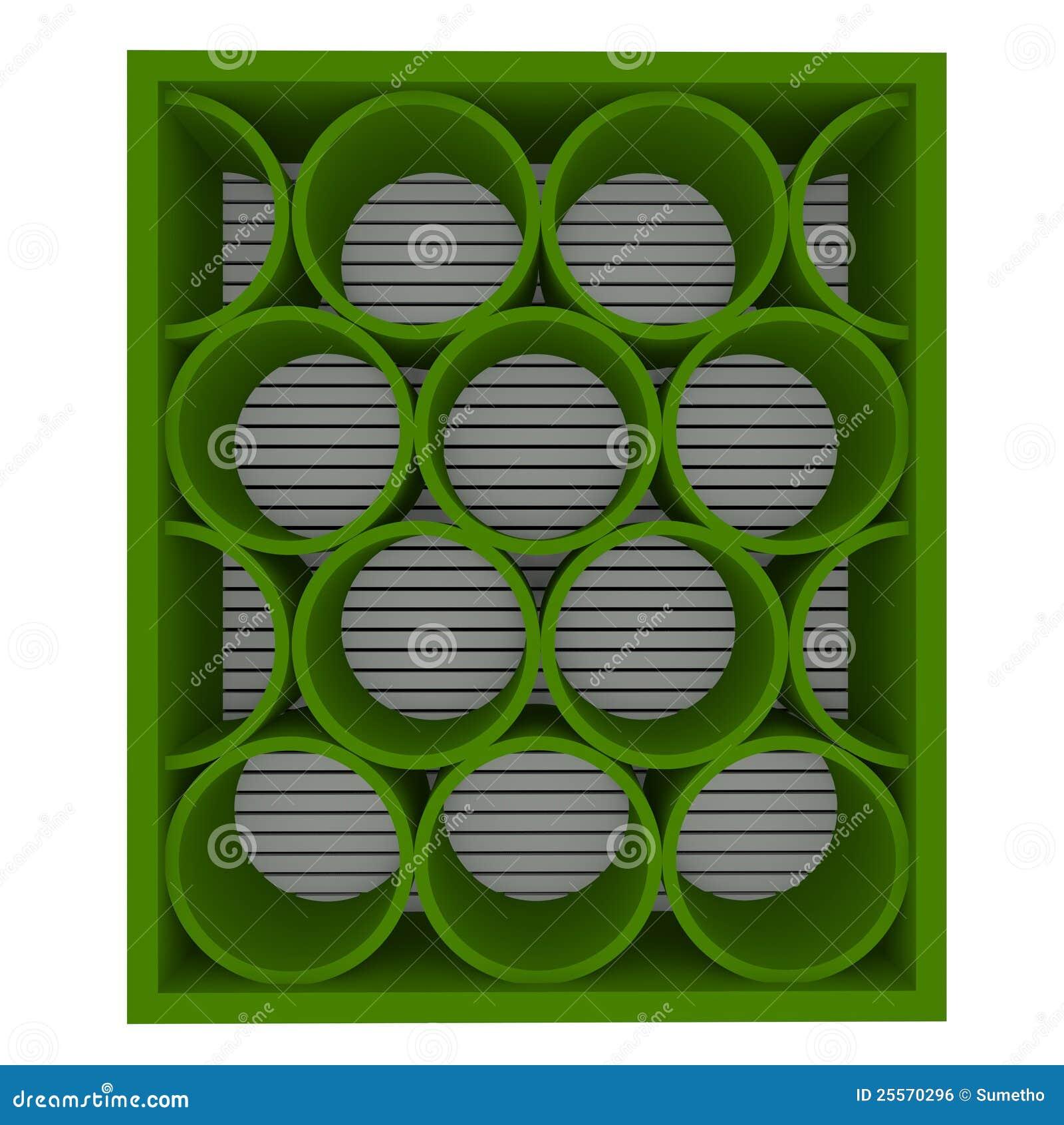 mensole verdi vuote arrotondate immagine stock libera da