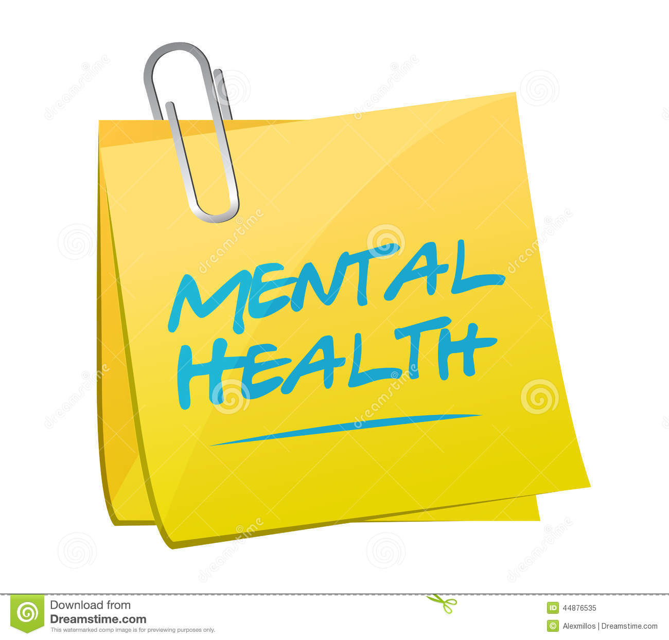 Mental Health Memo Post Illustration Design Stock Illustration - Image ...