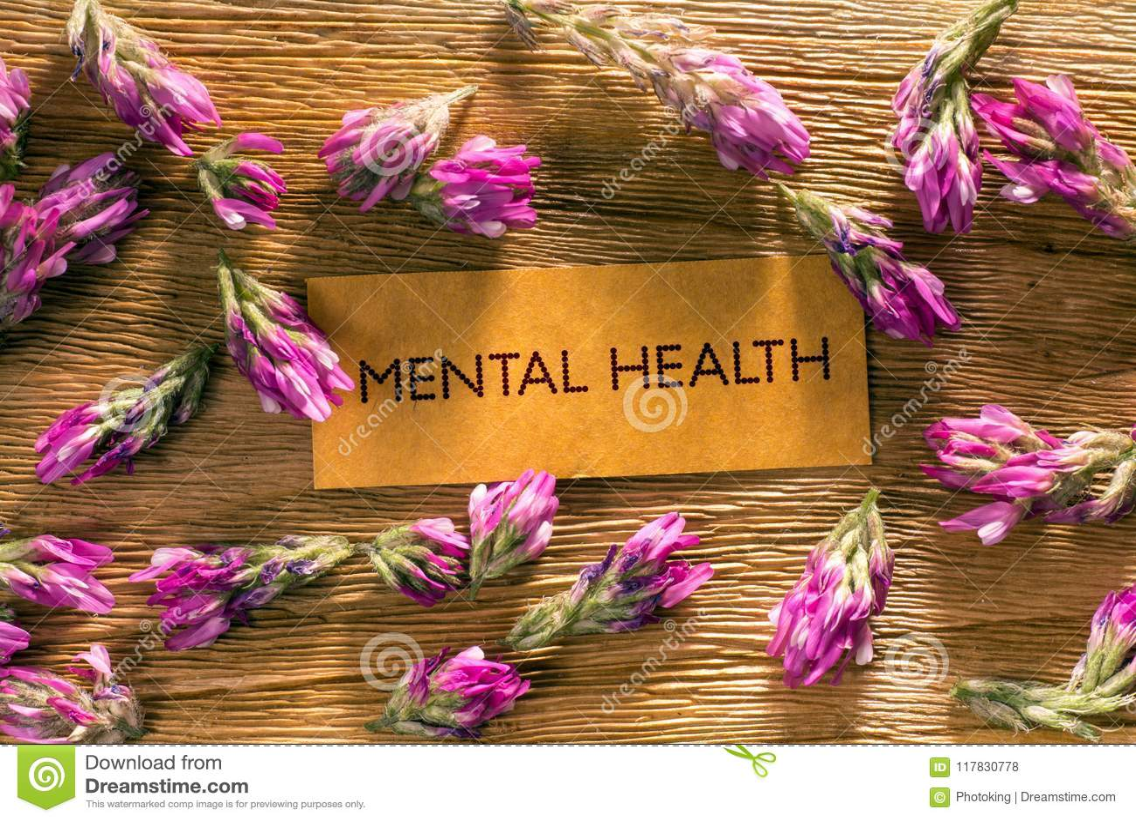 Mental Health stock photo. Image of word, wood, medicine