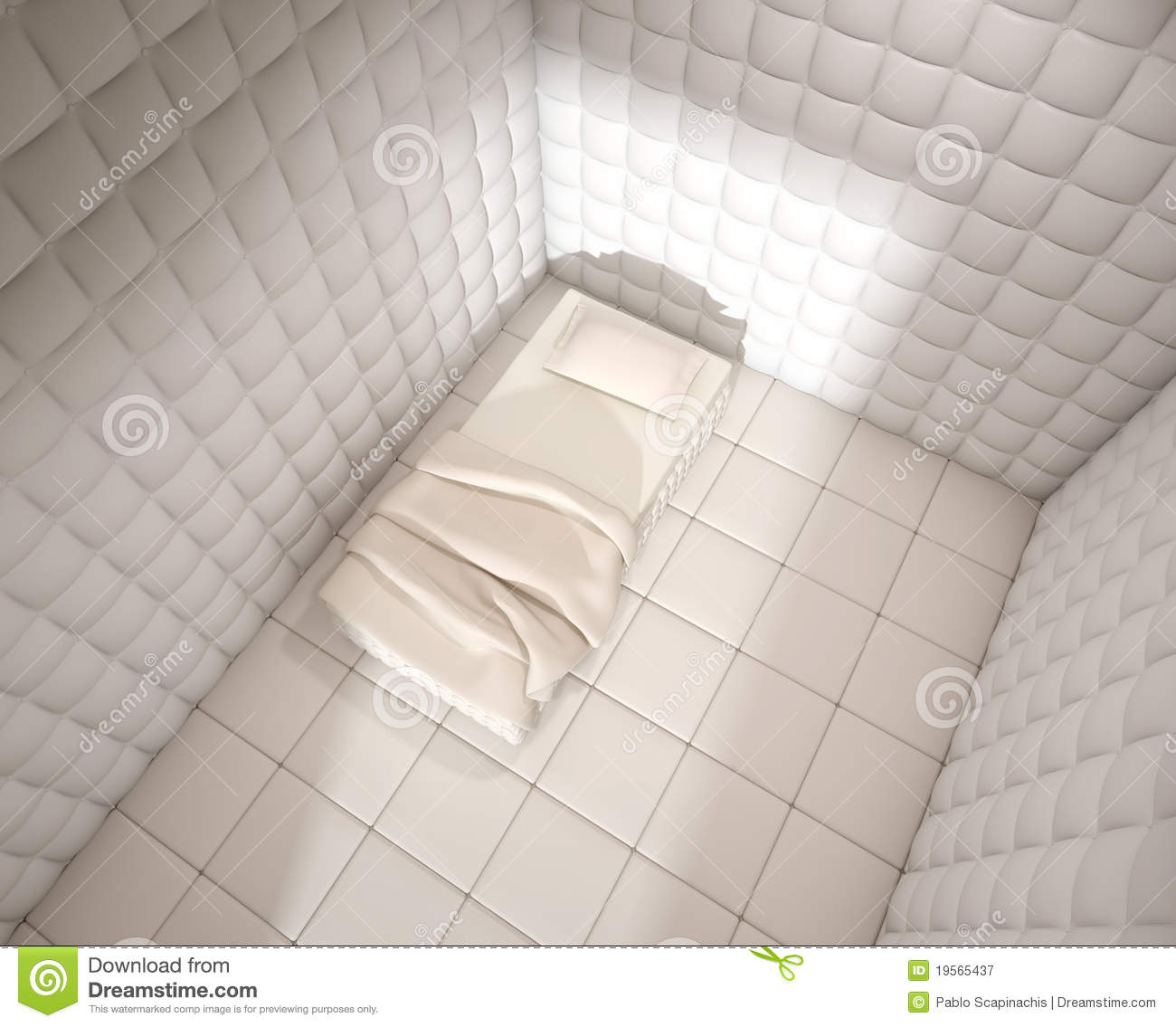 mental hospital padded room from royalty free stock photography