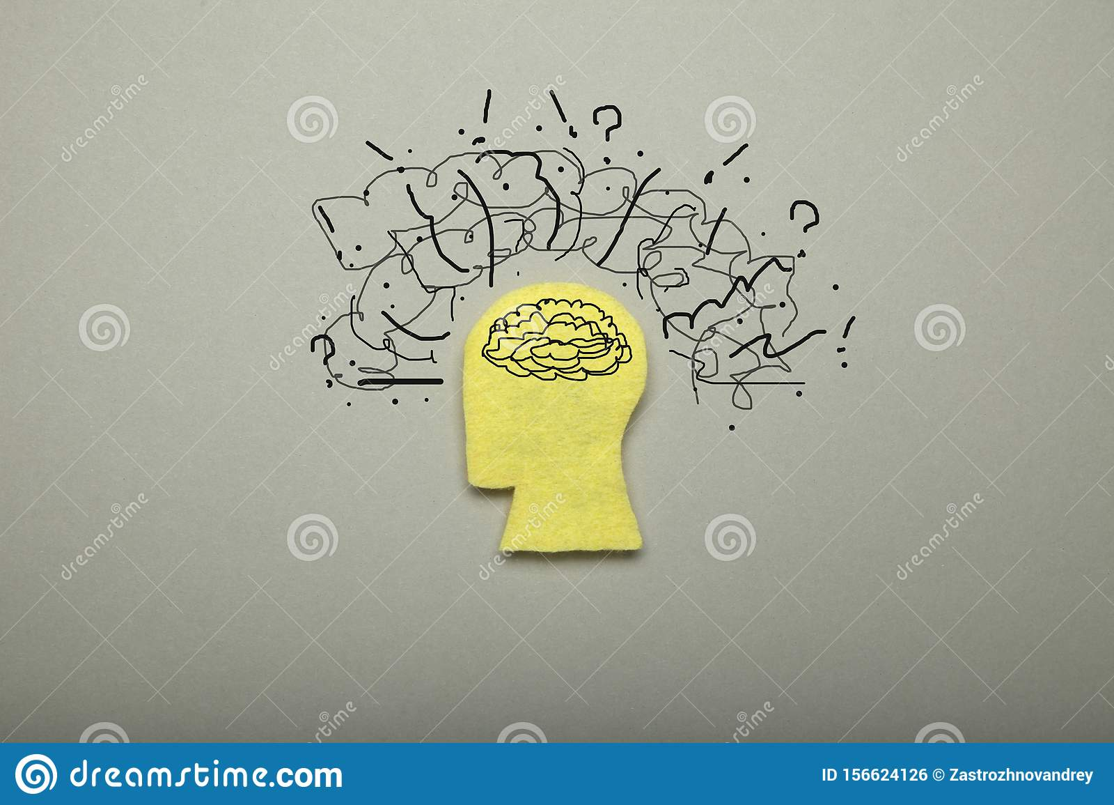 Mental Stress Mind Pressure Negative Brain Overload Stock Photo Image Of Worries Fear