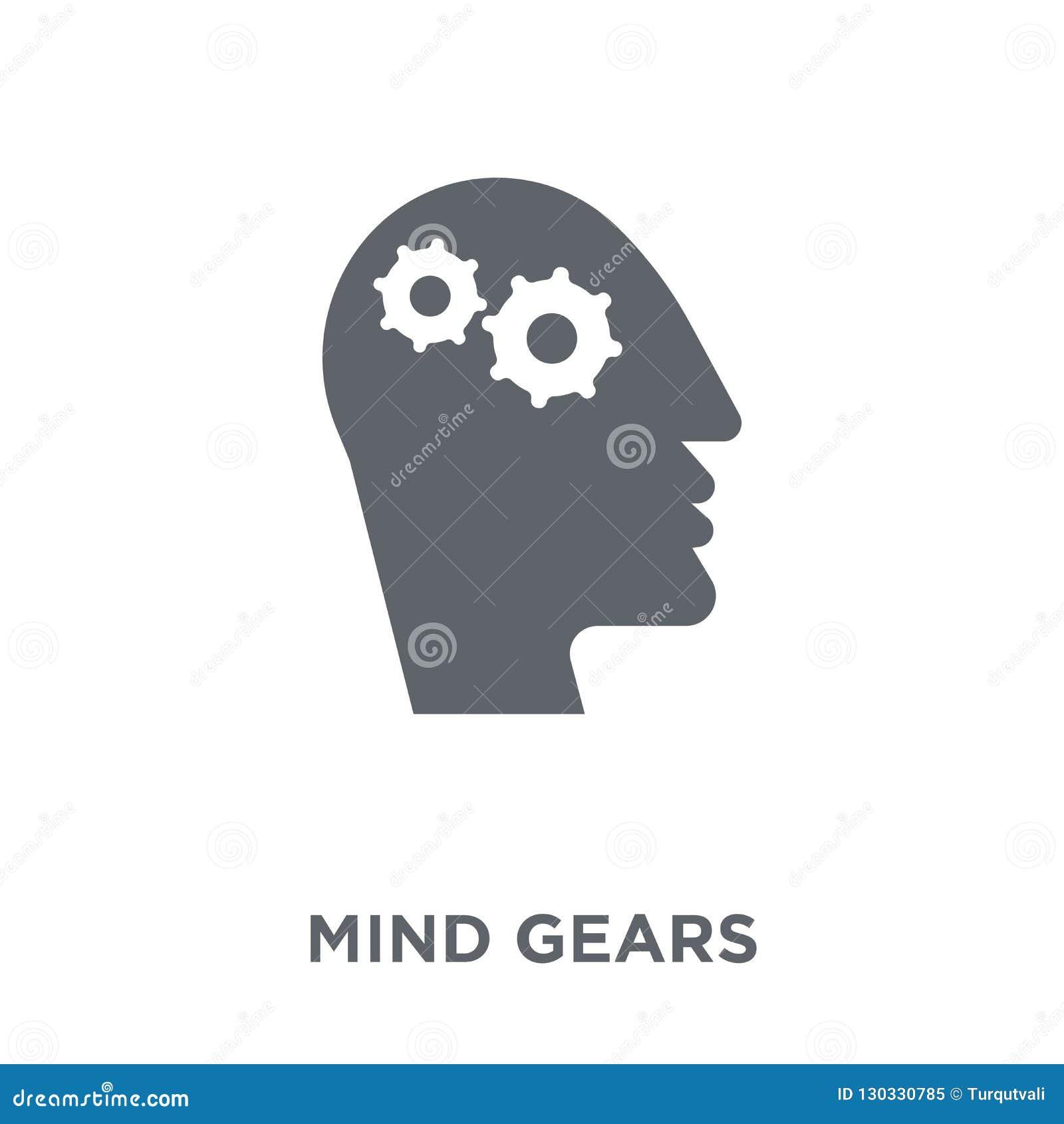 A mente alinha o ícone da coleção da produtividade