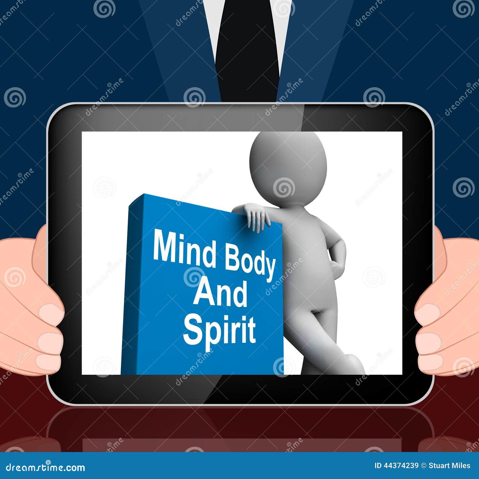 Mente corpo e libro di spirito con i libri olistici delle esposizioni di carattere