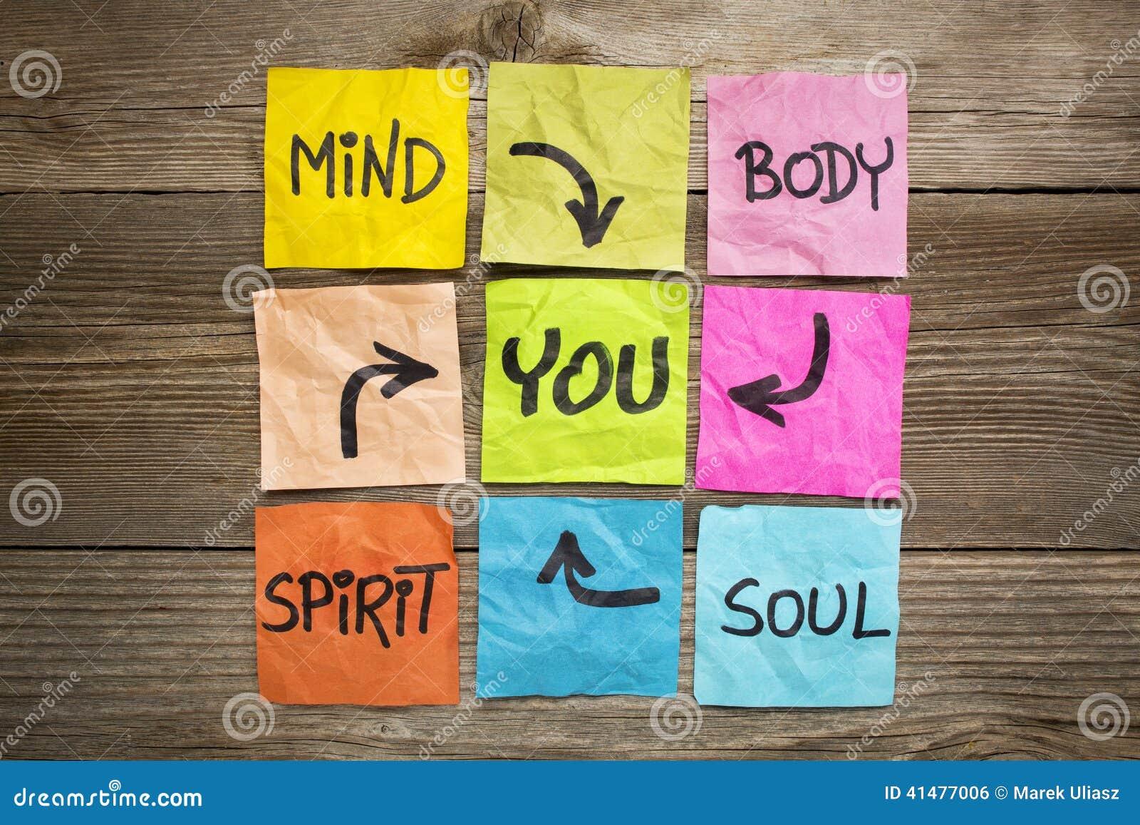 Equilibrio Mente E Espirito: Mente, Corpo, Espírito, Alma E Você Foto De Stock