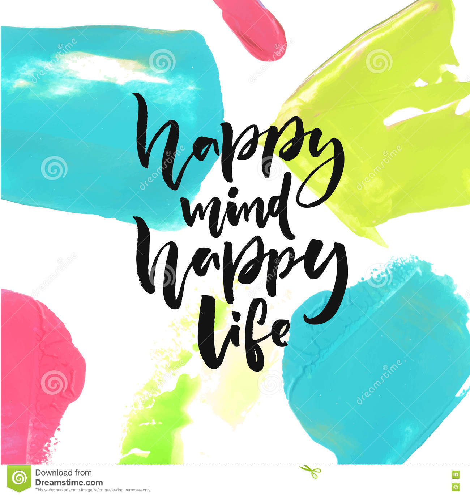 Mente Feliz Vida Feliz Refr N Positivo Sobre Felicidad Y