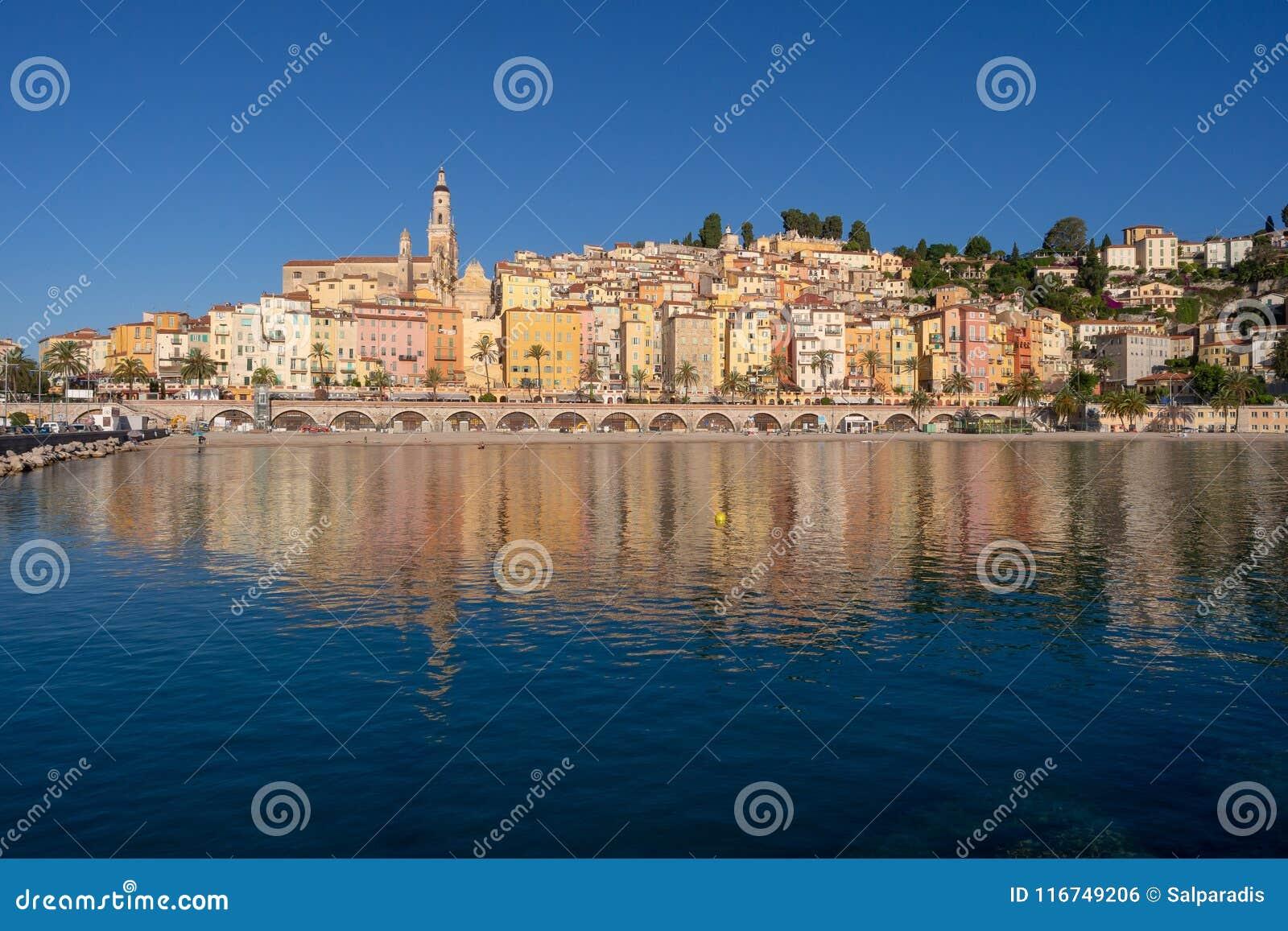 Menton auf französischem Riviera