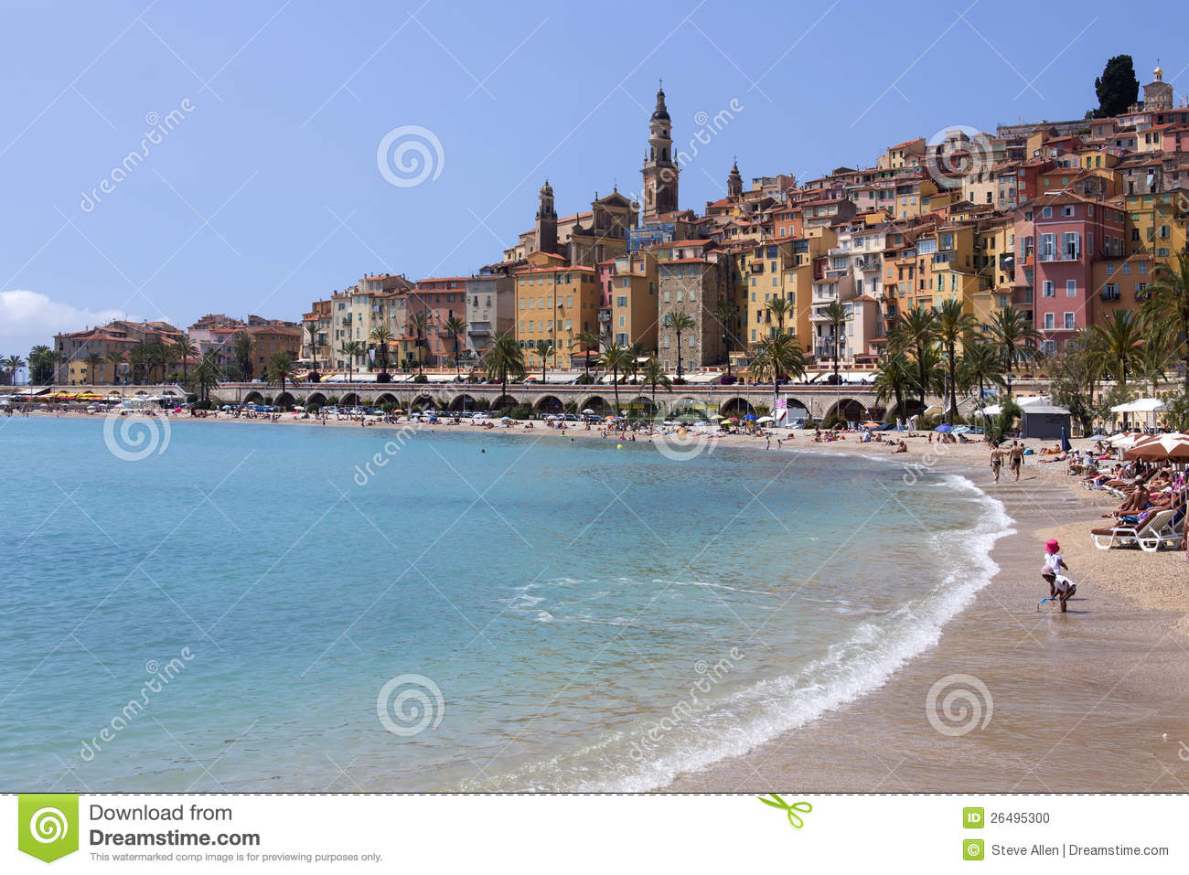 Menton - Cote DAzur - South Of France Editorial Image - Image ...