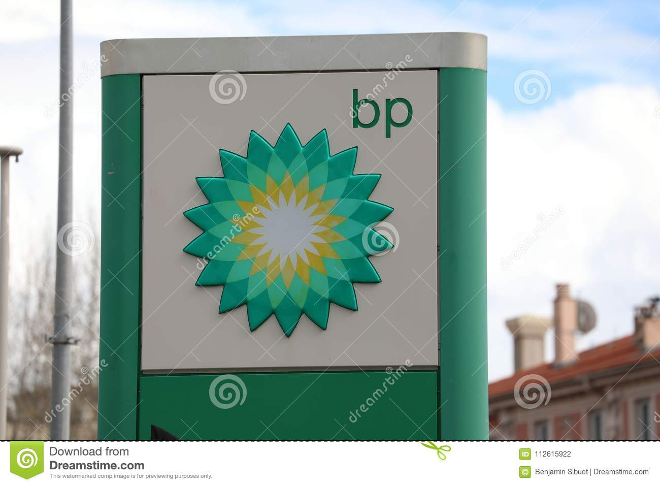 Bp Sign At A Petrol Station Editorial Photography Image Of Close