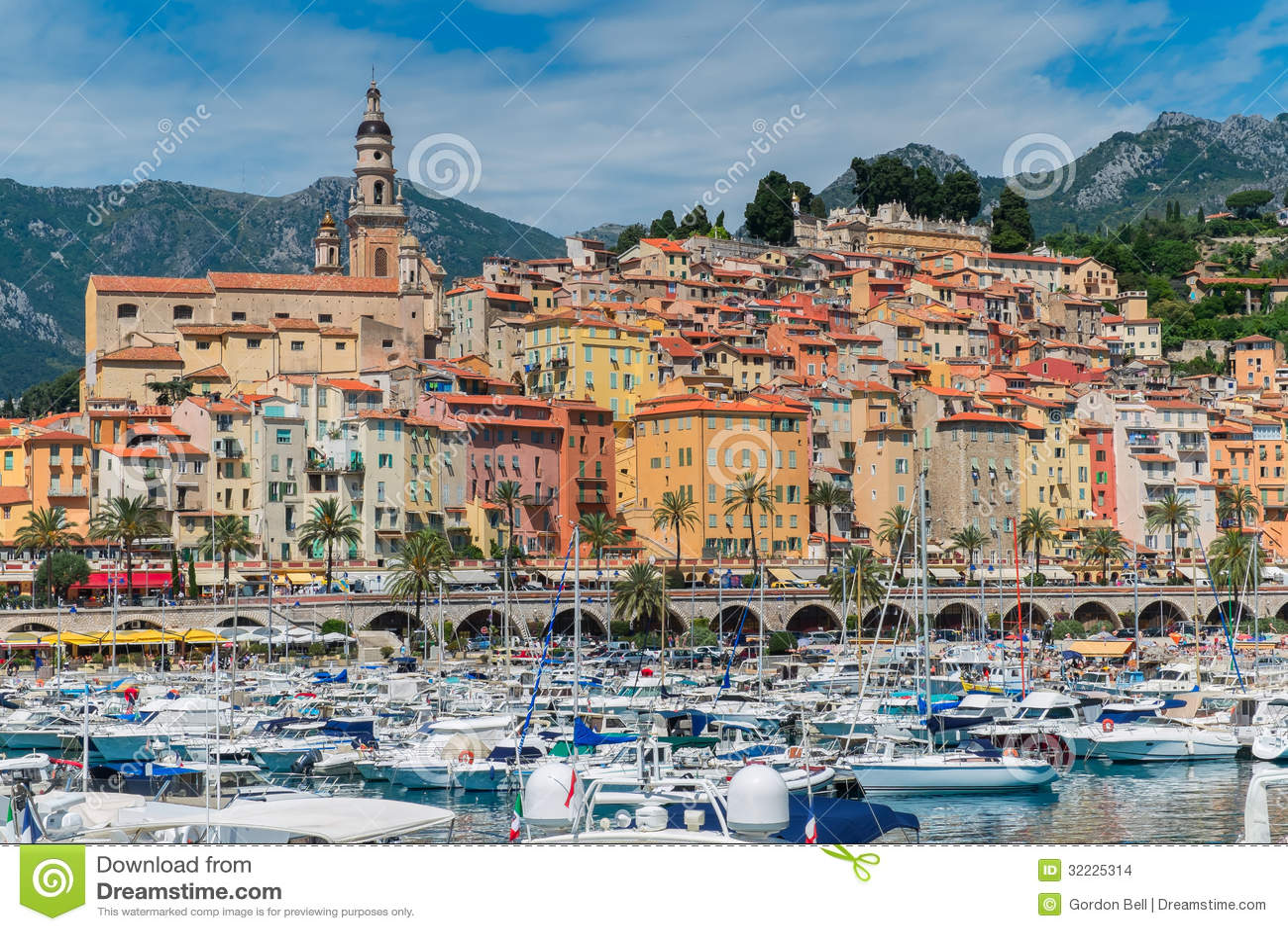 Download Mentone foto de stock. Imagem de mediterranean, sobre - 32225314