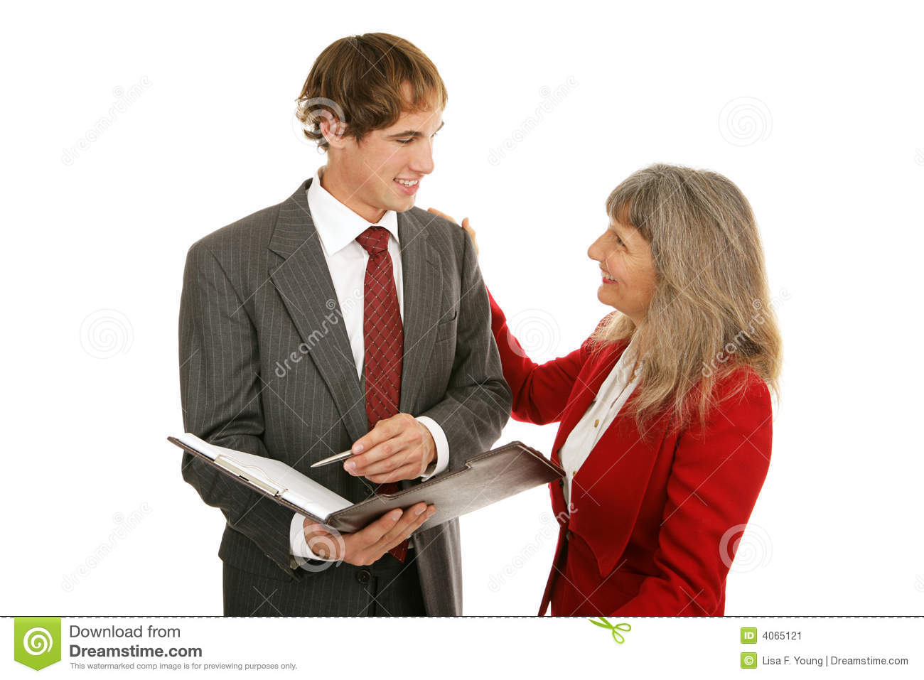 male executives nervous mentor younger women