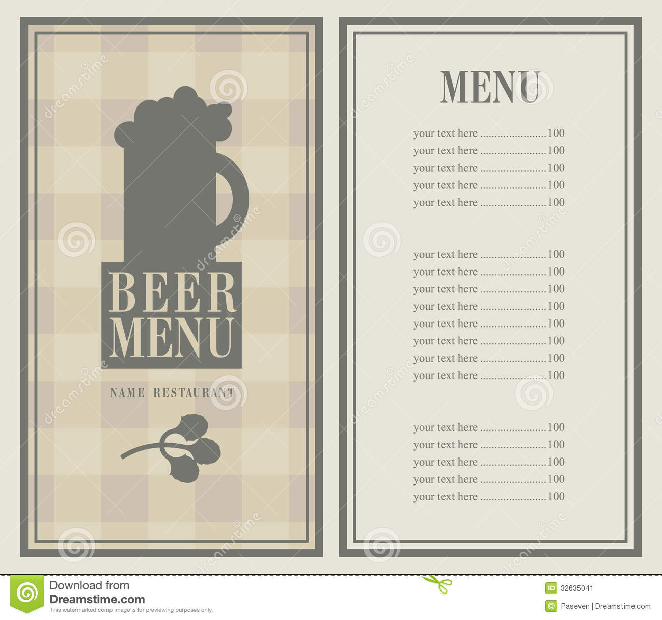 Menu Bar Stock Image - Image: 32635041
