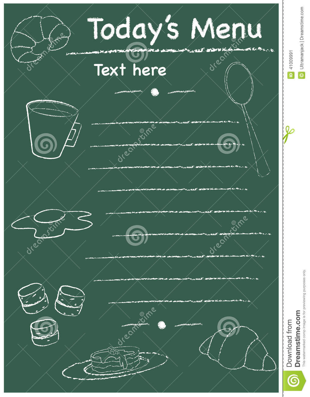 Menu Breakfast Template Vector Image 41009991 – Breakfast Menu Template
