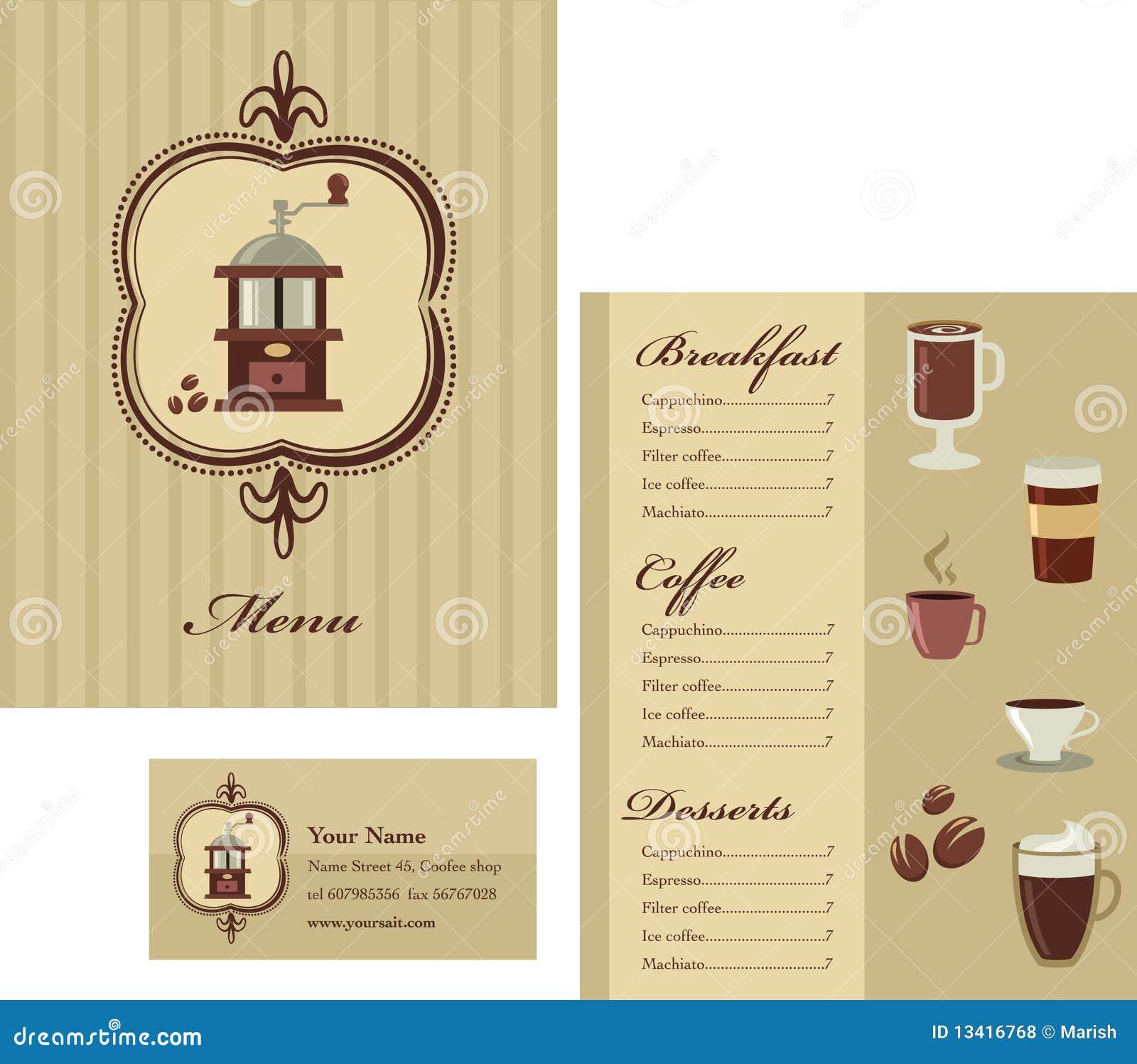 menus design templates free