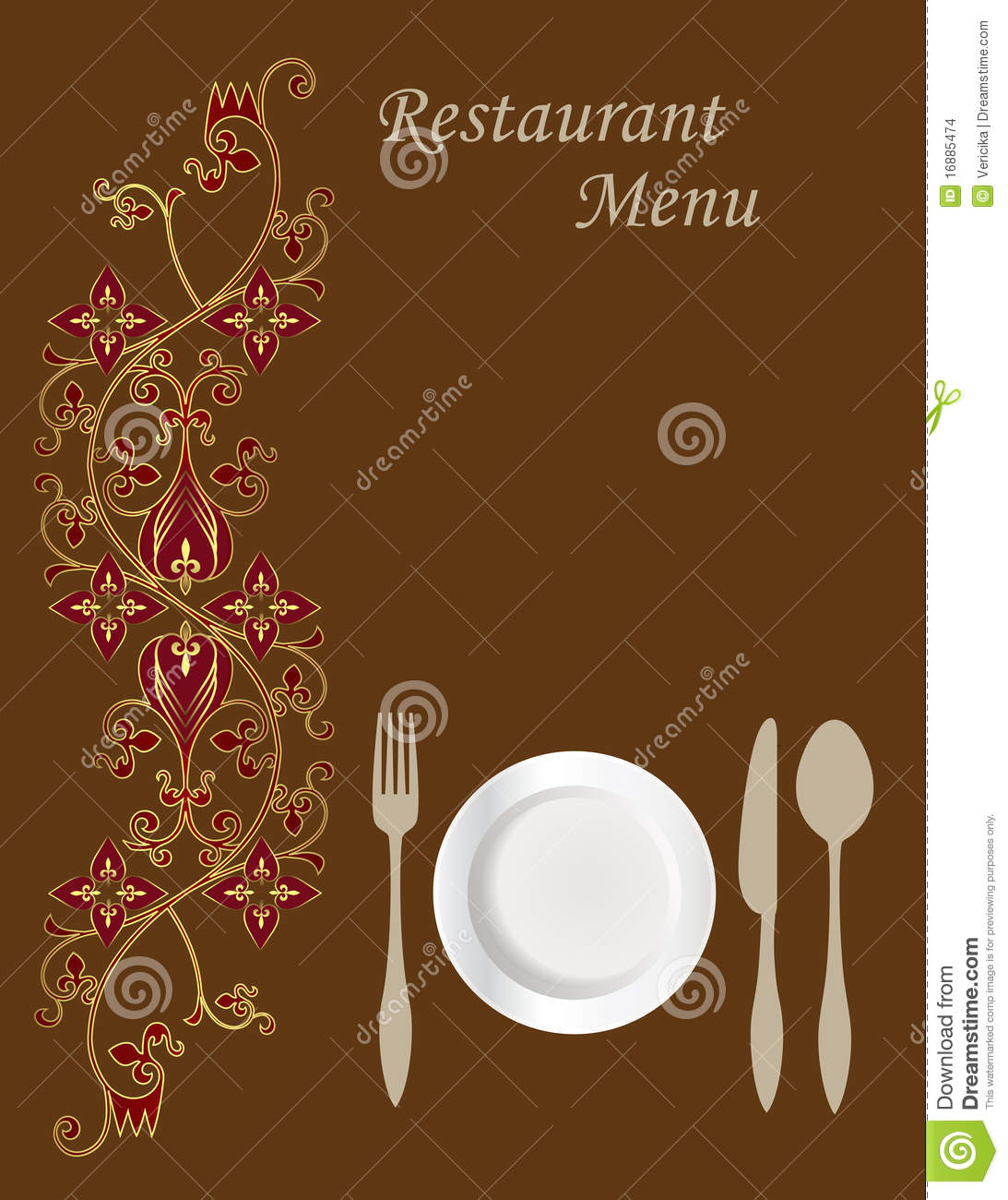 Menu Card Design Stock Images - Image: 16885474