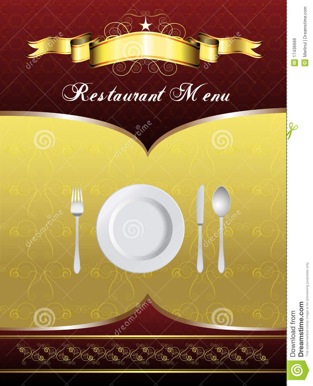 menu card design stock vector. illustration of party - 17436666