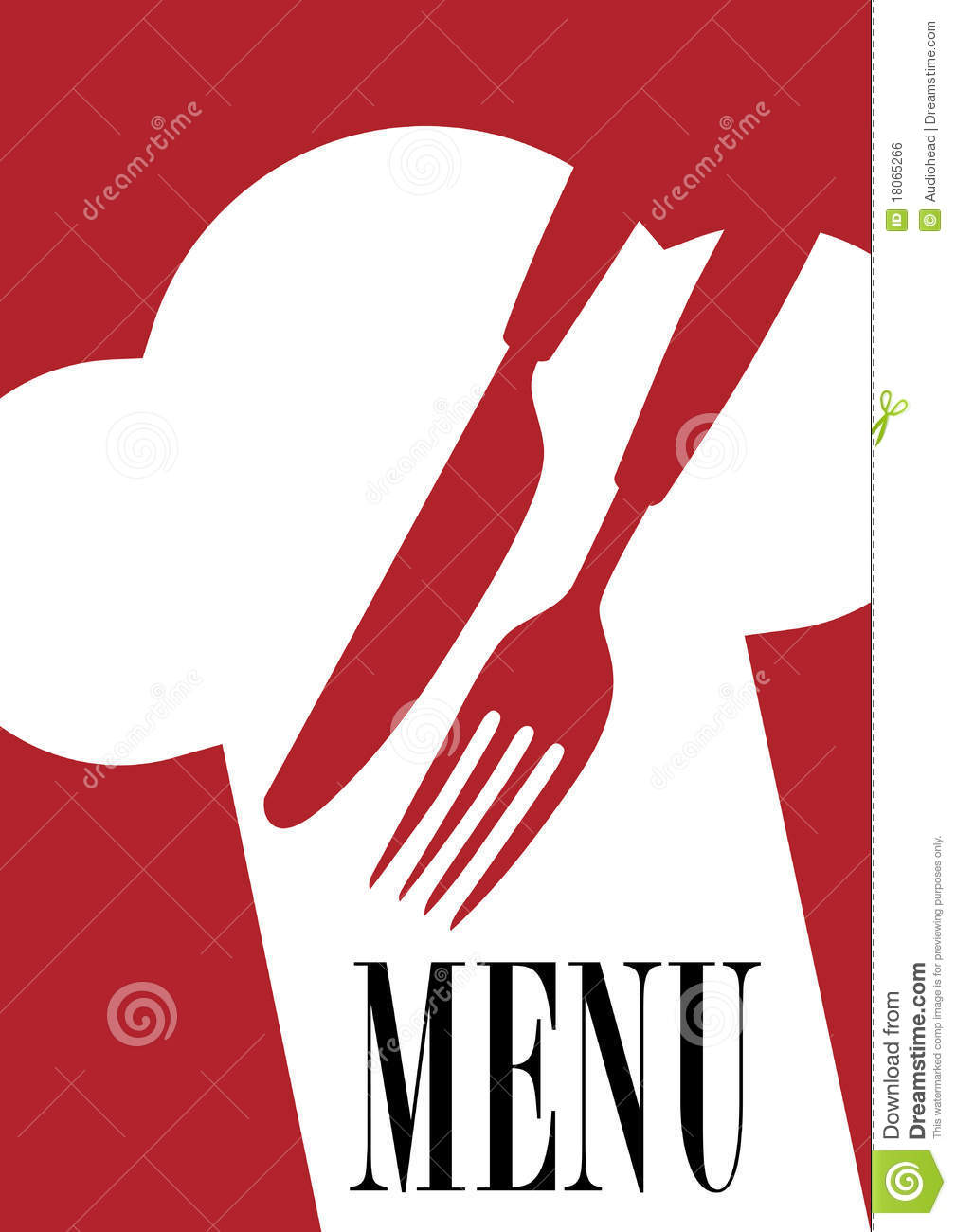 Menu Card Design Royalty Free Stock Image Image 18065266