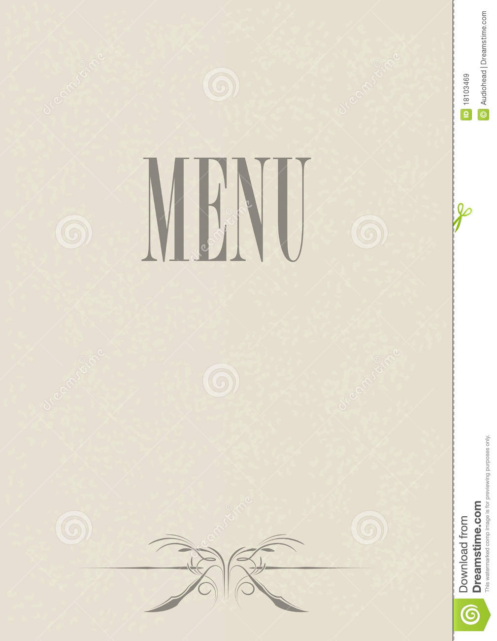 menu card design stock vector illustration of illustration 18103469