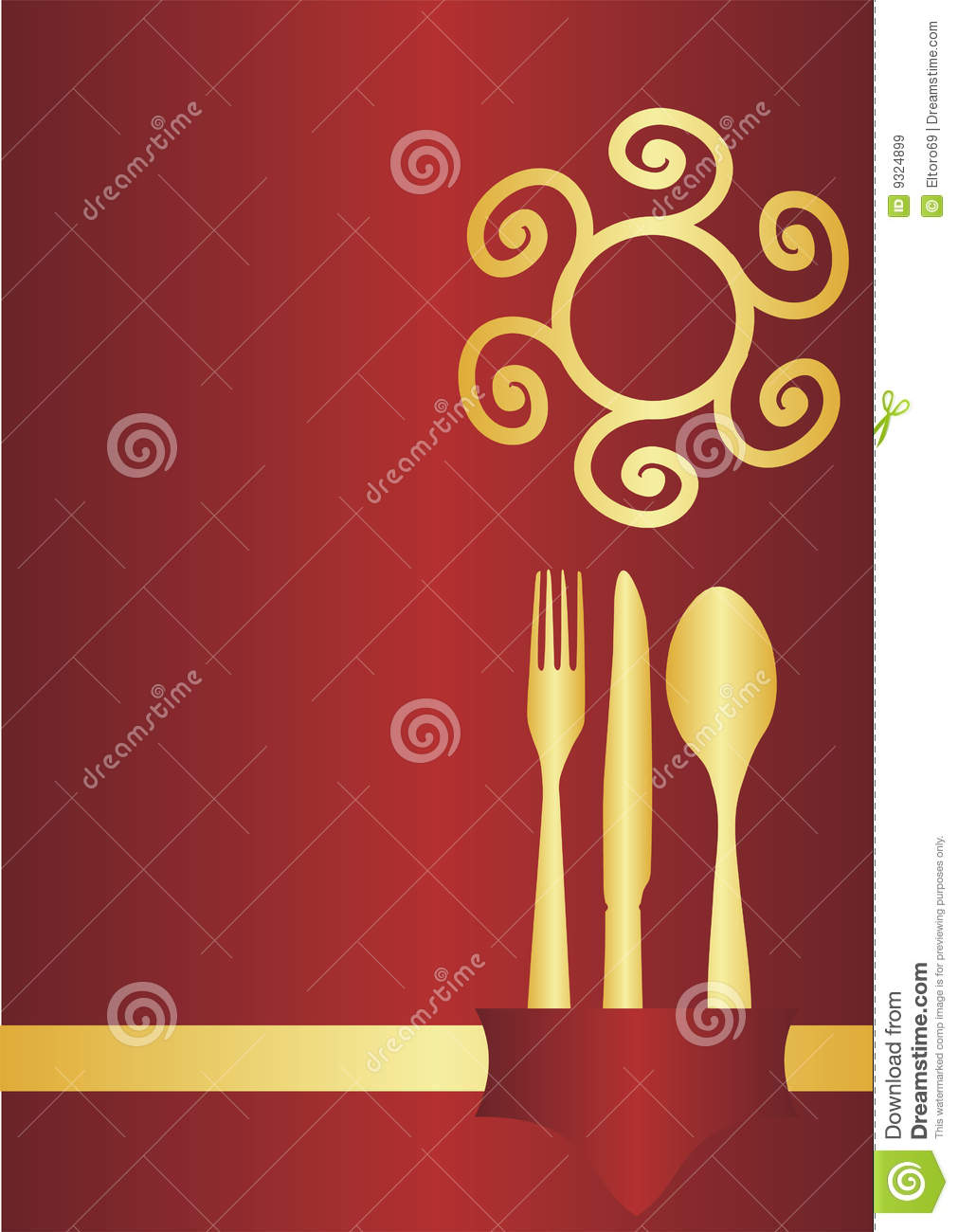Menu Card Design Royalty Free Stock Images - Image: 9324899