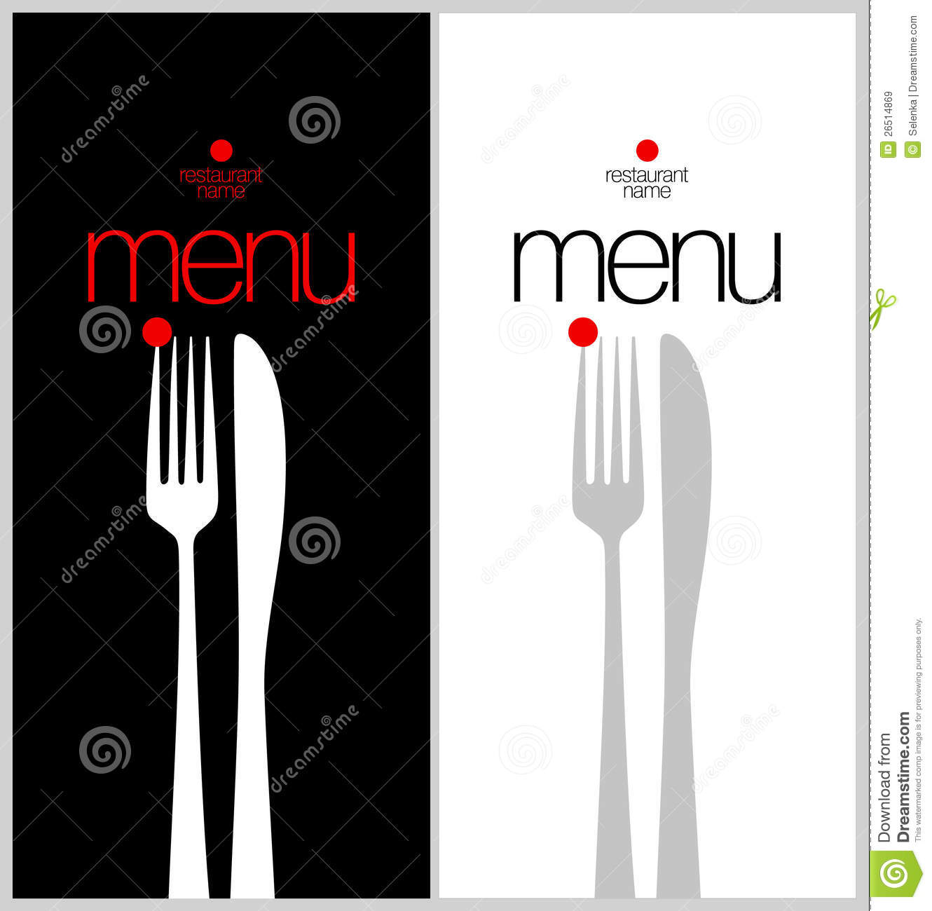 how to look out for menu card in a restaurant