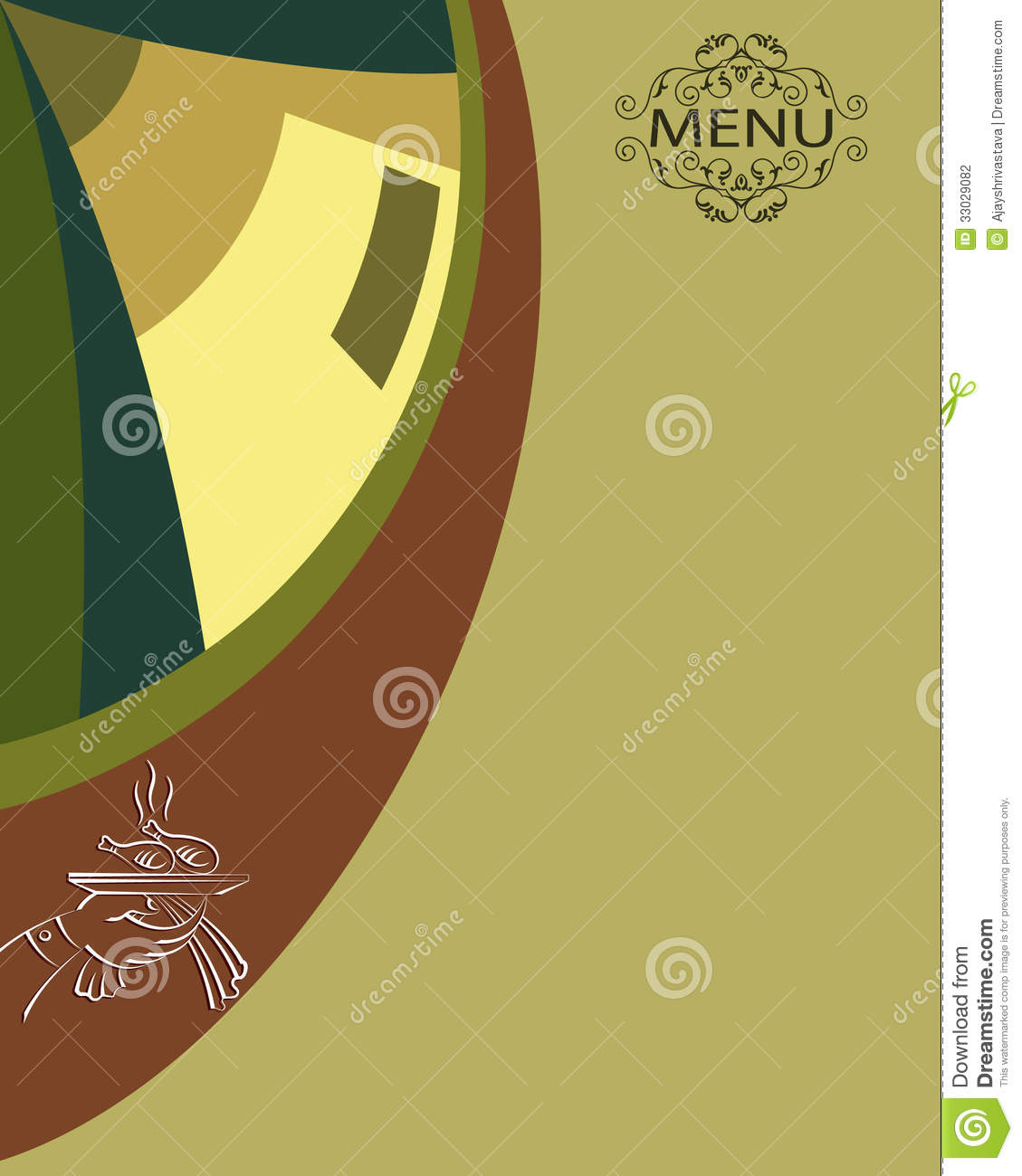 menu card design template stock illustration  image of