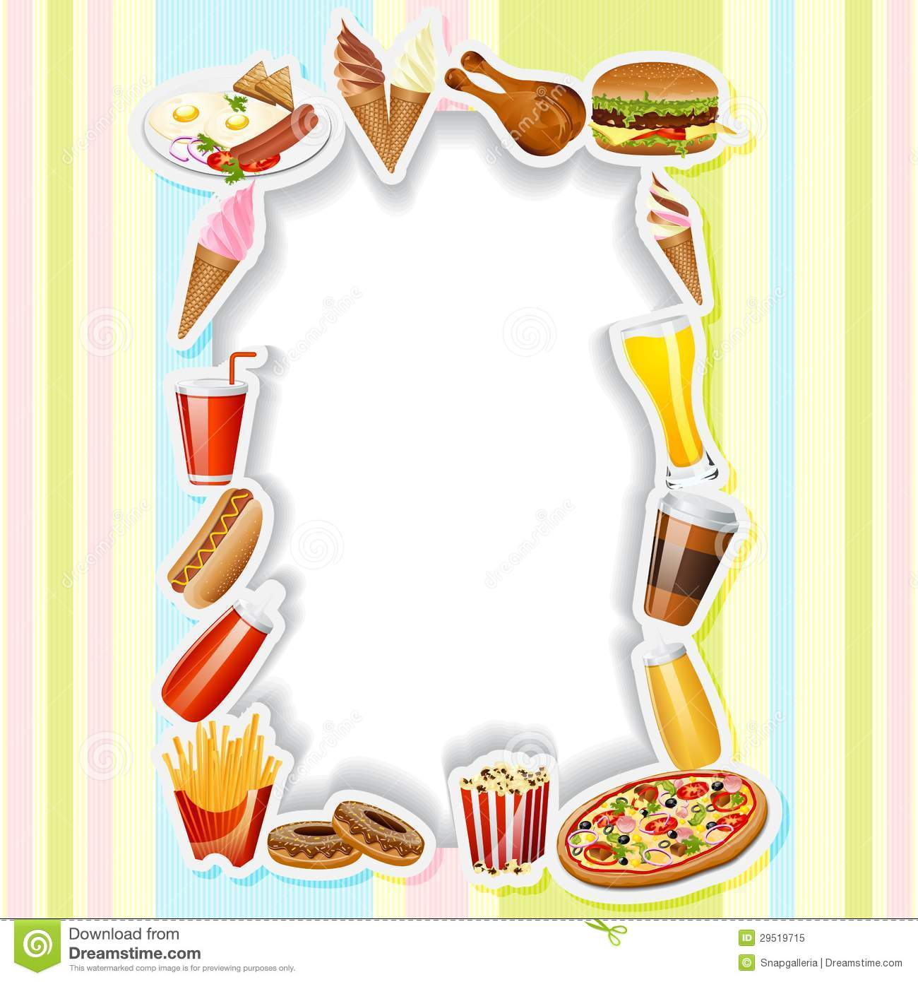 menu card with fast food stock vector illustration of edit 29519715