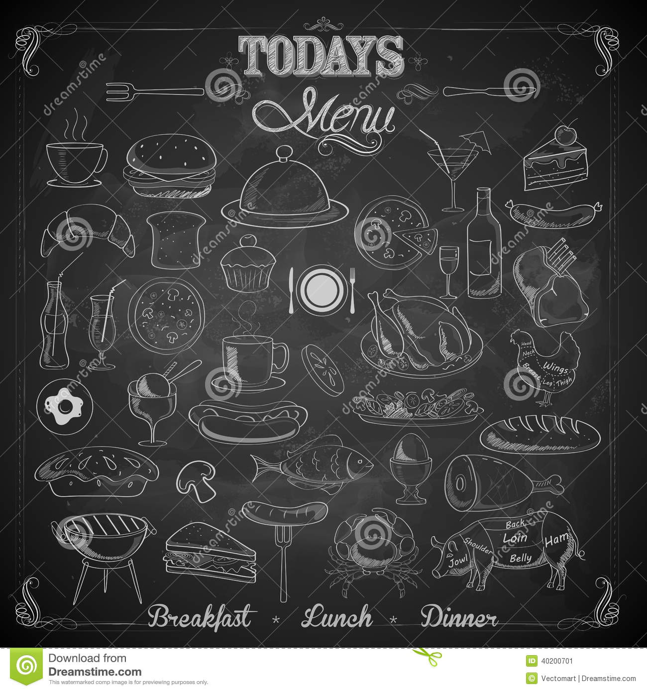 Menu Chalk board