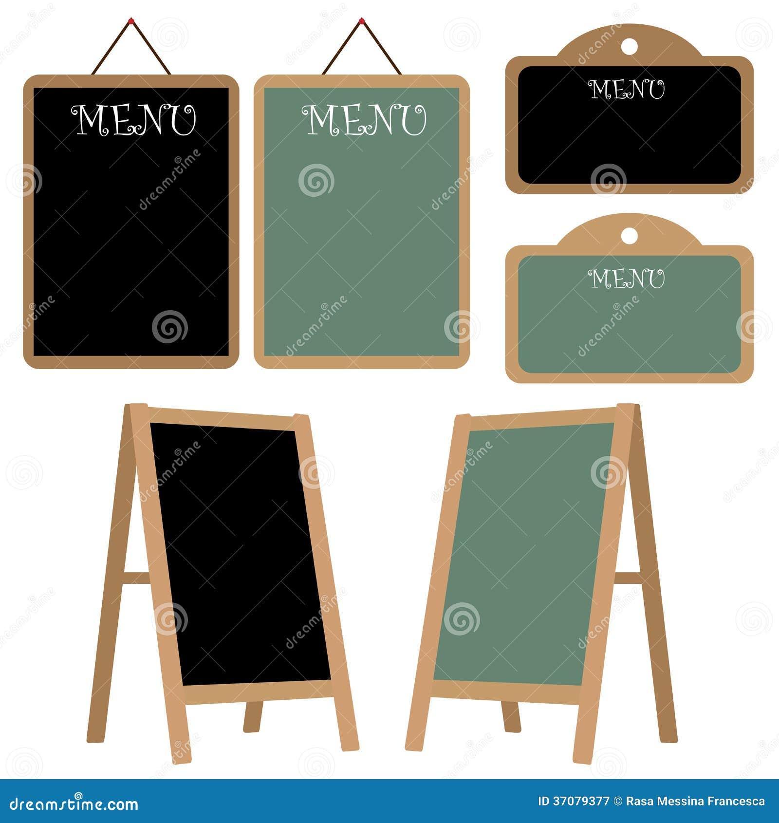 Download Menu chalkboard set ilustracja wektor. Ilustracja złożonej z grupa - 37079377