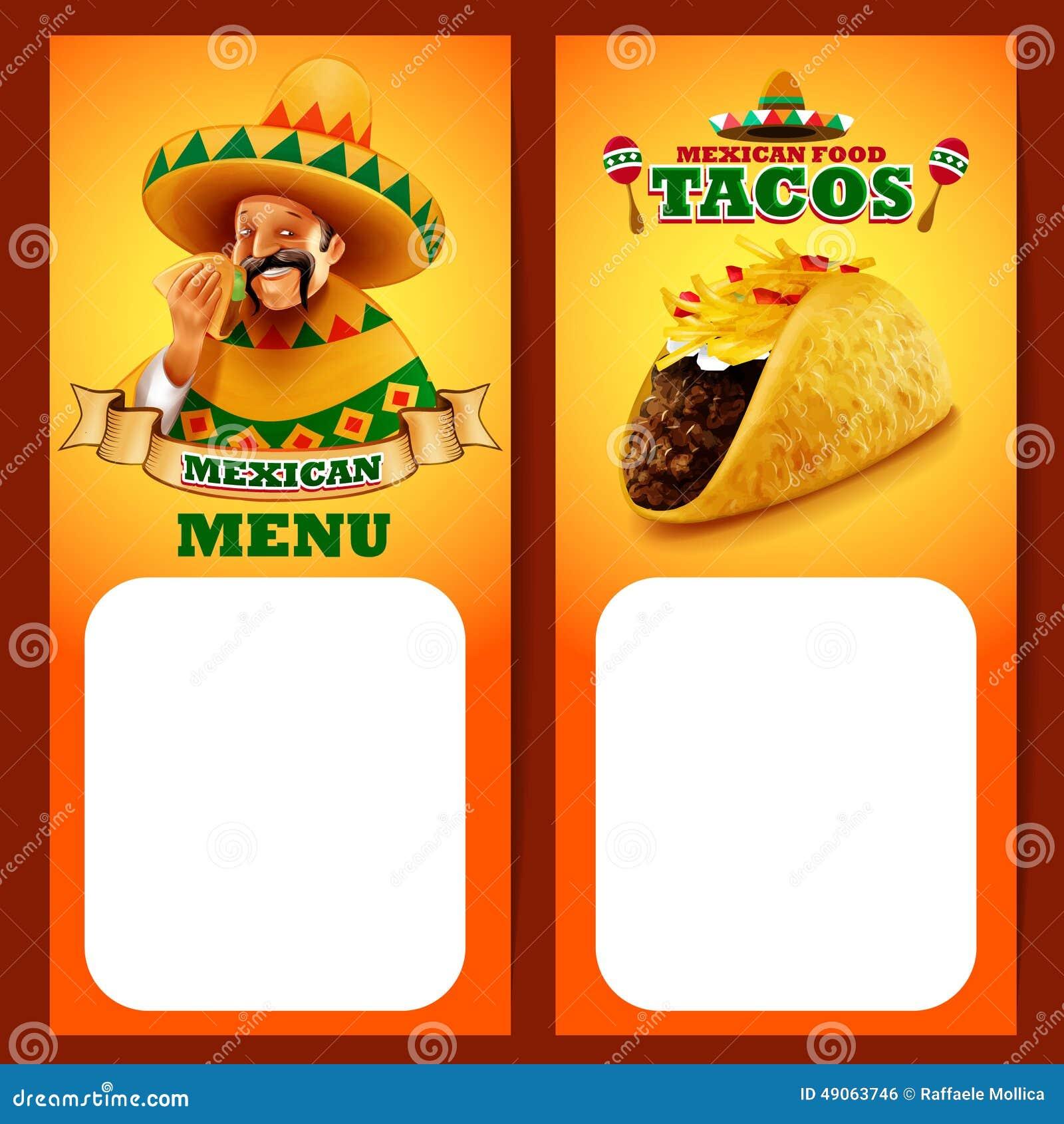 Menu De Mexicain De Tacos Illustration De Vecteur Image