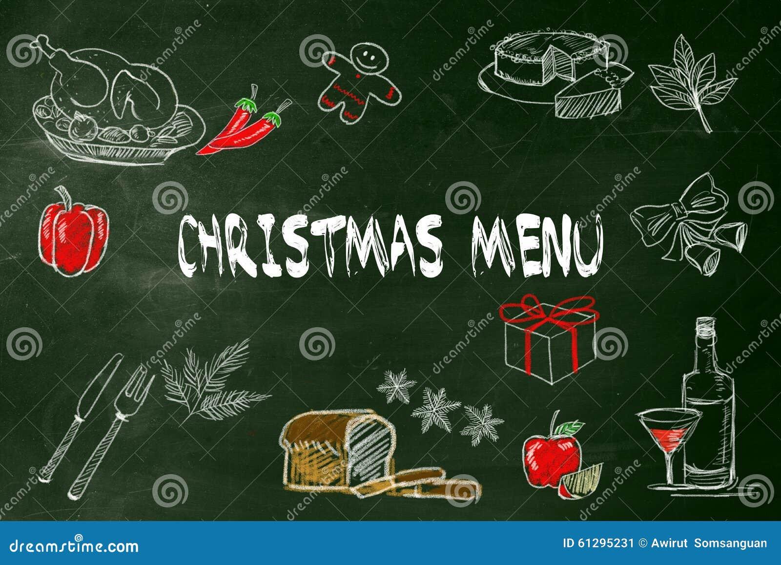 Dessin De Menu Pour Noel.Menu De Noel Avec La Photo De Dessin De Main Un Aliment Pour