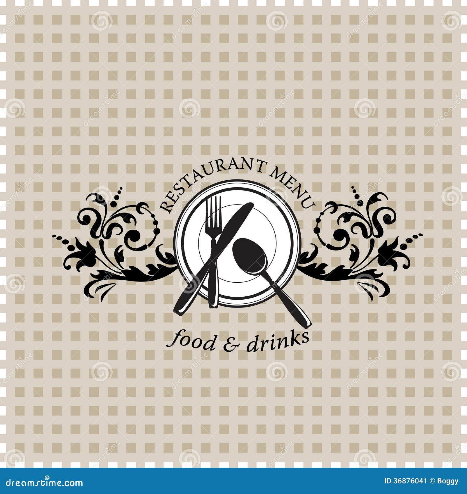 Download Menu del ristorante illustrazione vettoriale. Illustrazione di segno - 36876041