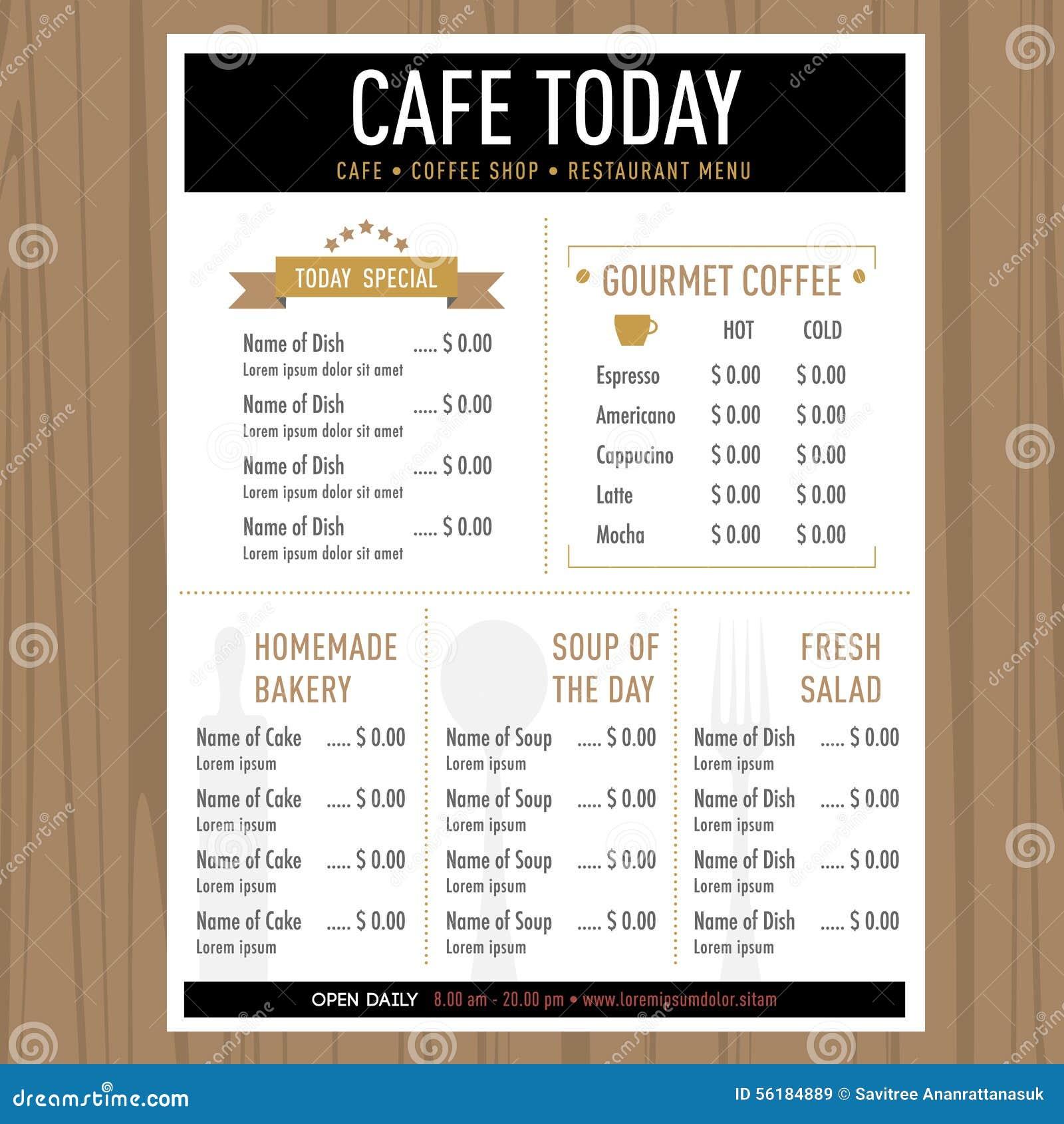 Dot  Dot Cafe Menu