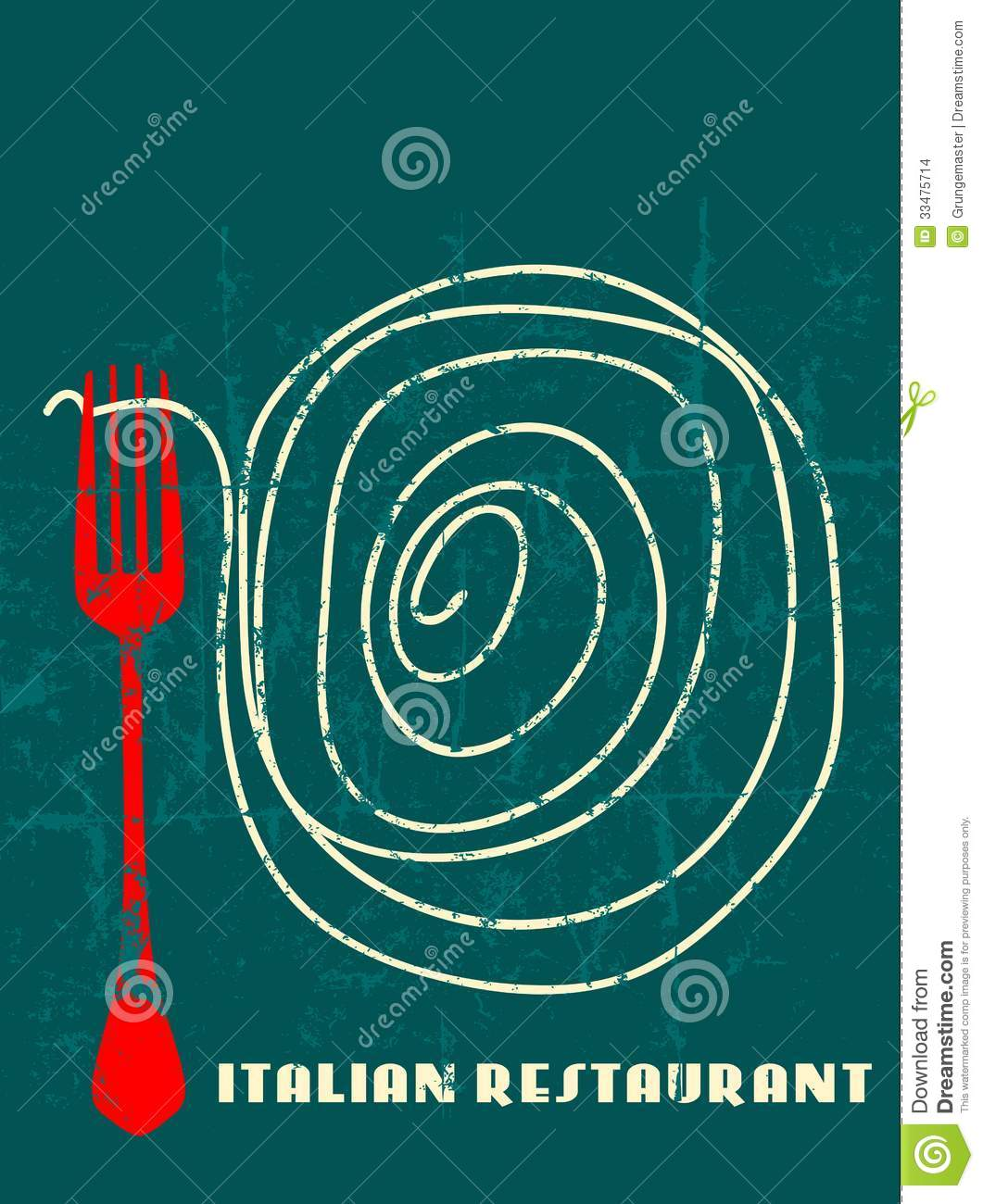 Italian Restaurant Names: Menu Design Italian Restaurant Stock Vector